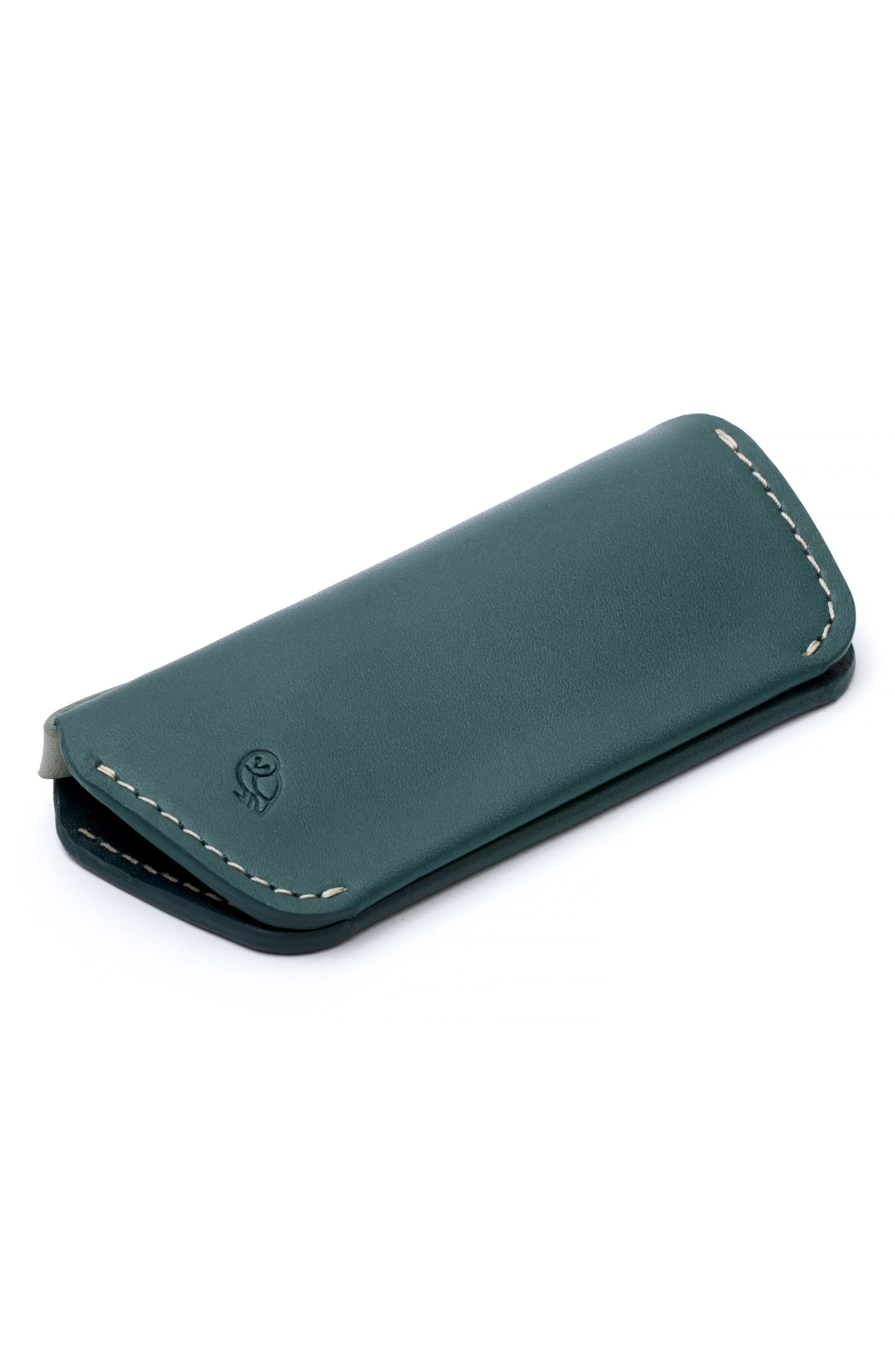 Leather Key Cover Plus,                             Alternate thumbnail 4, color,                             Teal
