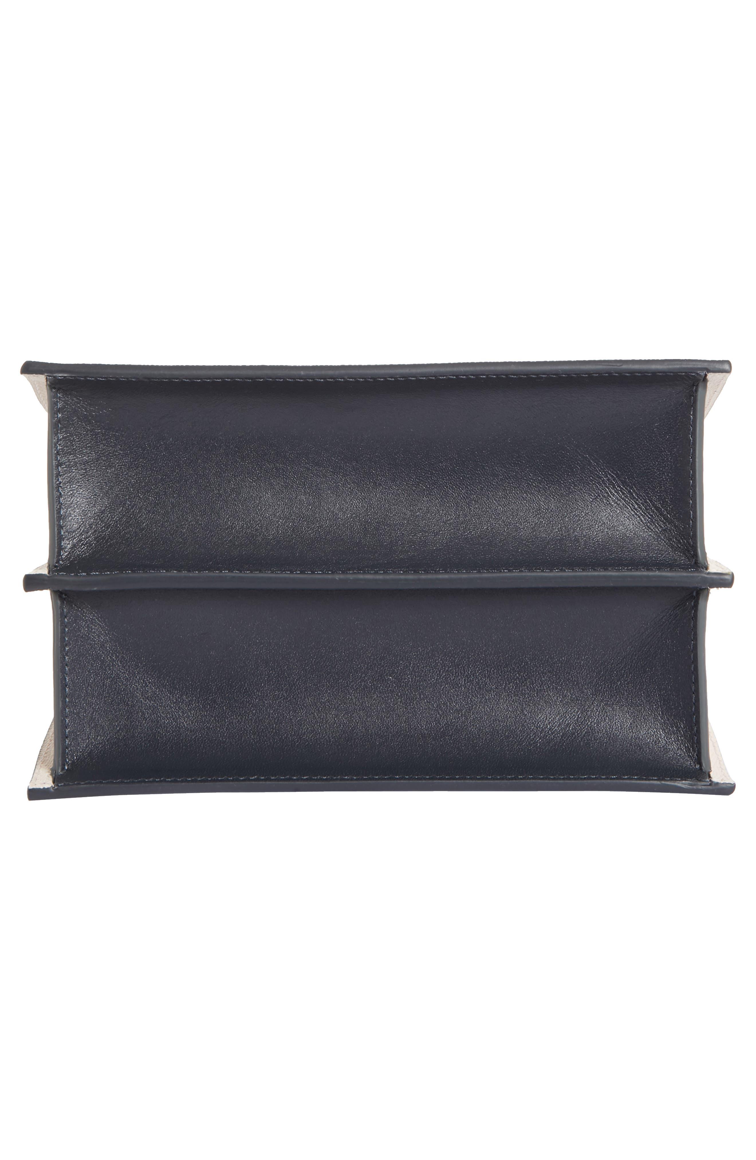 Mini Phoebe Leather Bag,                             Alternate thumbnail 6, color,                             Pine-Marine
