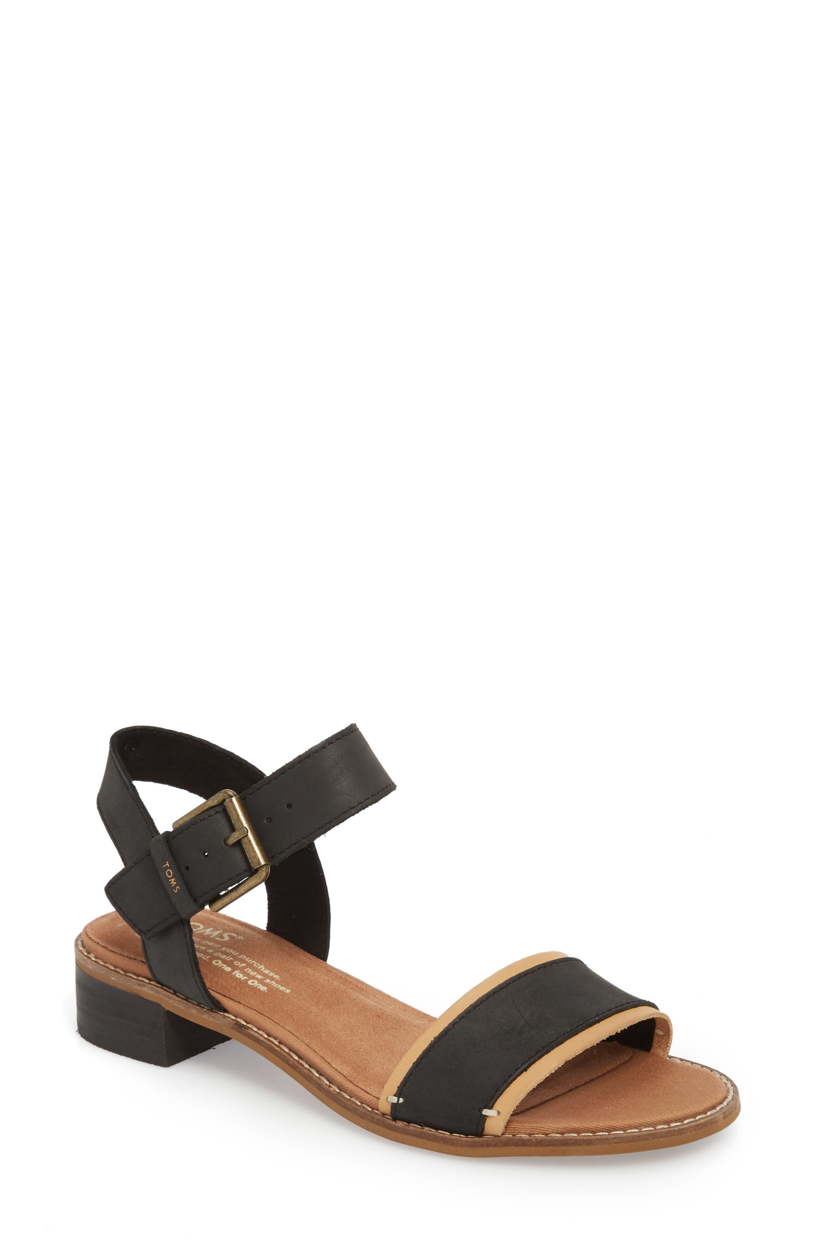 TOMS Camilia Tribal Block Heel Sandals dl68EXdqgT