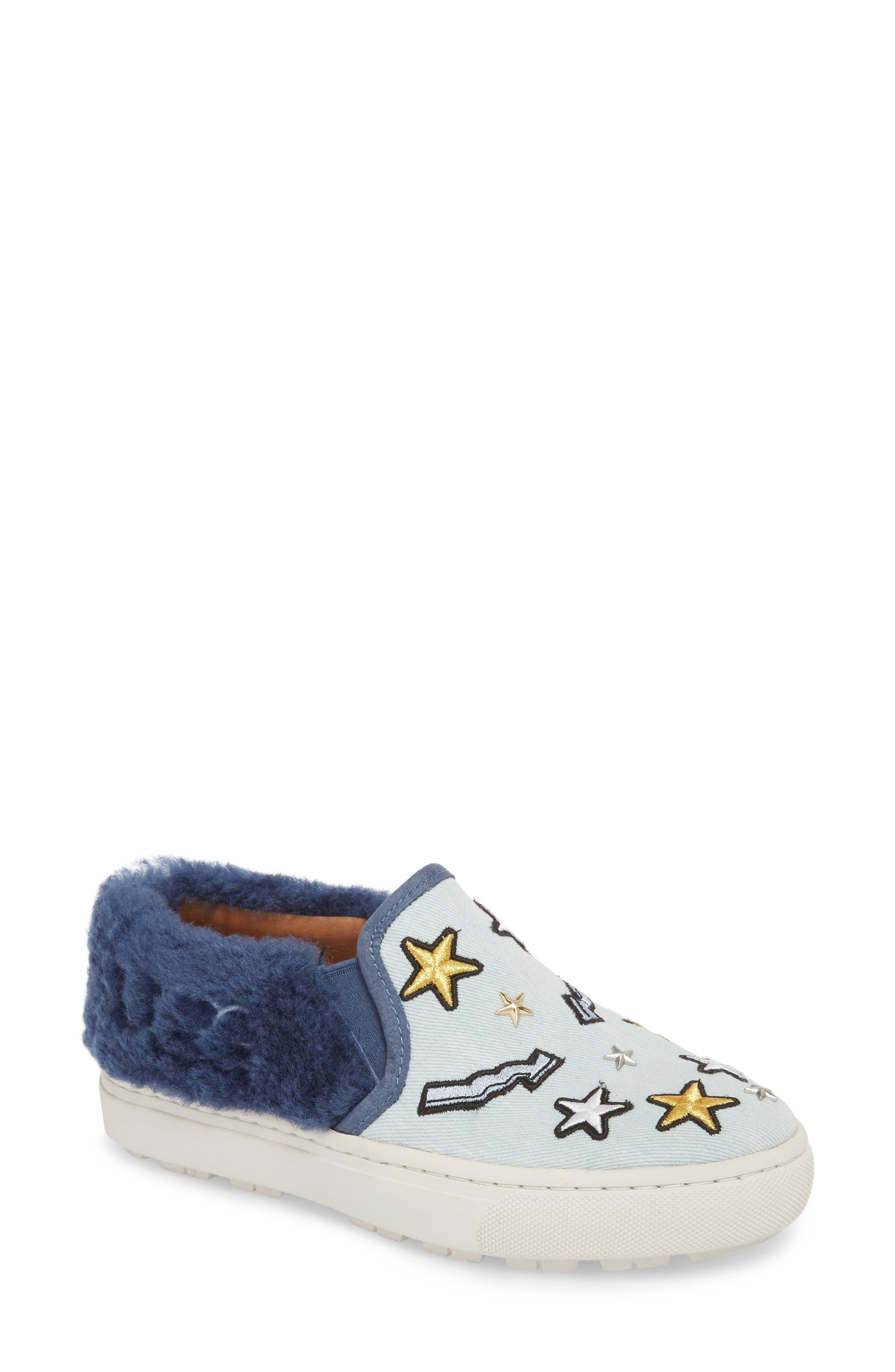 UGG® Patch It Genuine Shearling Trim Slip-On Sneaker (Women)