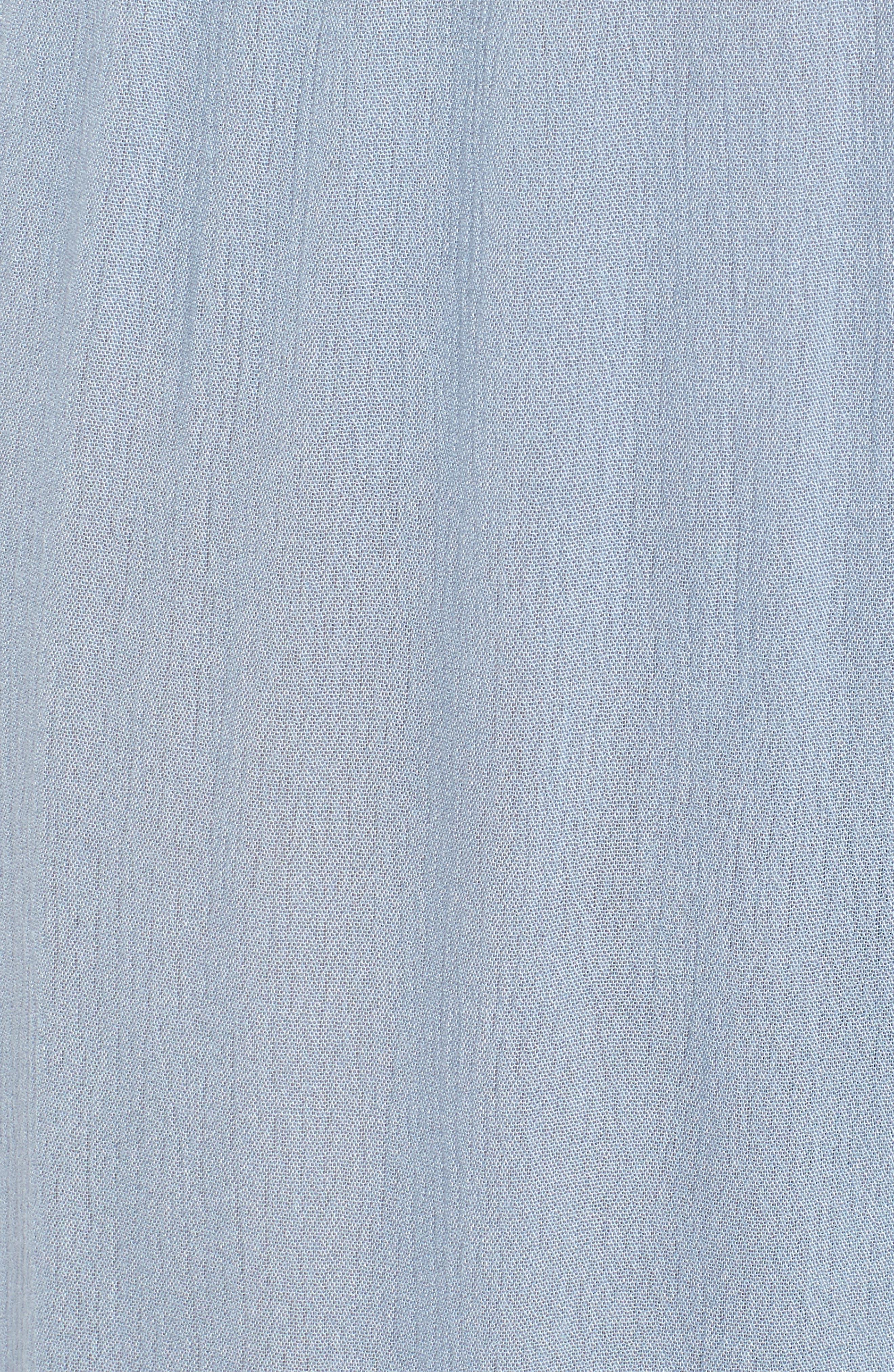 Mystique Ruffle Hem Beach Pants,                             Alternate thumbnail 7, color,                             Blue