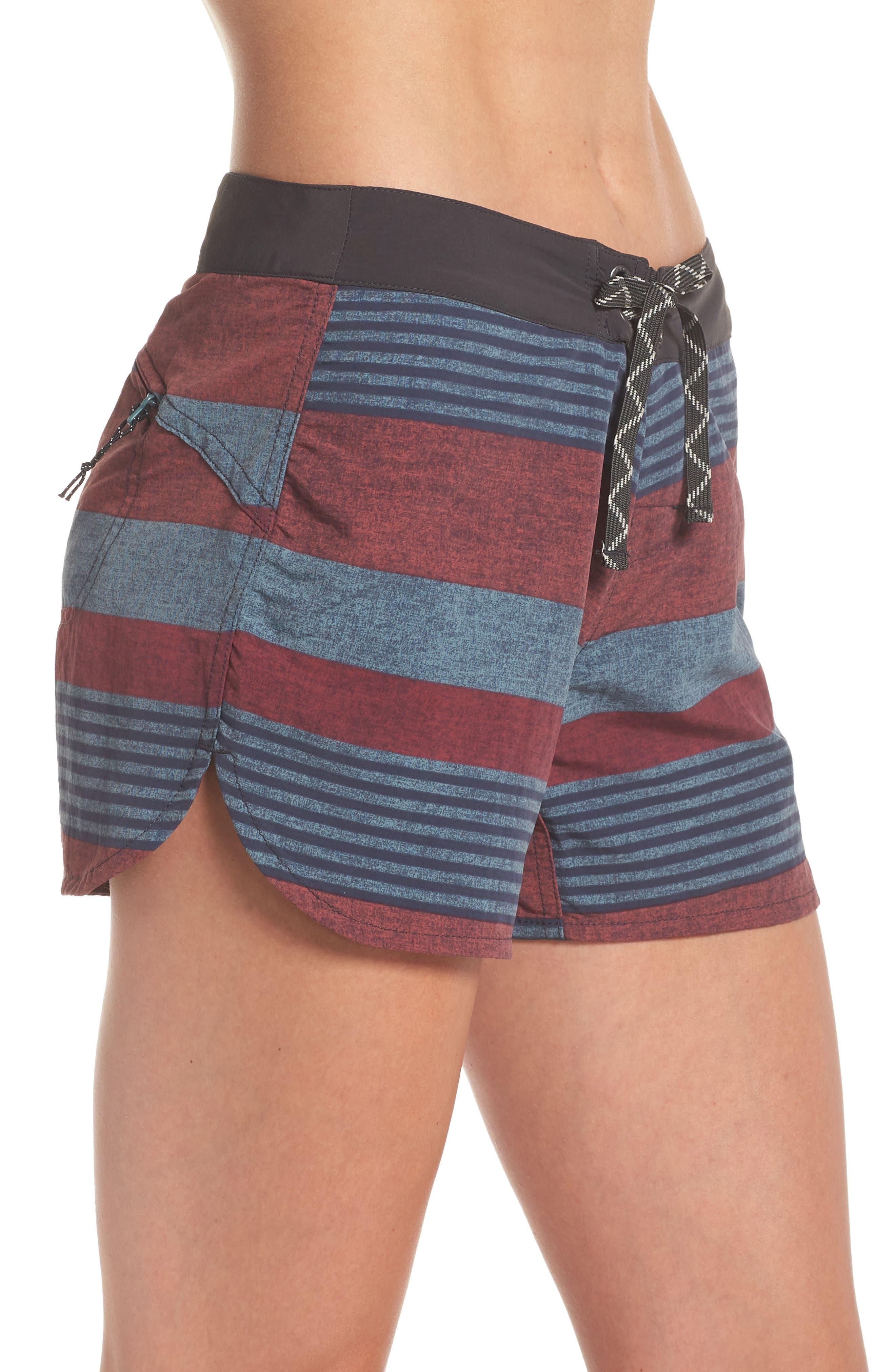 Wavefarer Board Shorts,                             Alternate thumbnail 5, color,                             Fitz Stripe: Kiln Pink