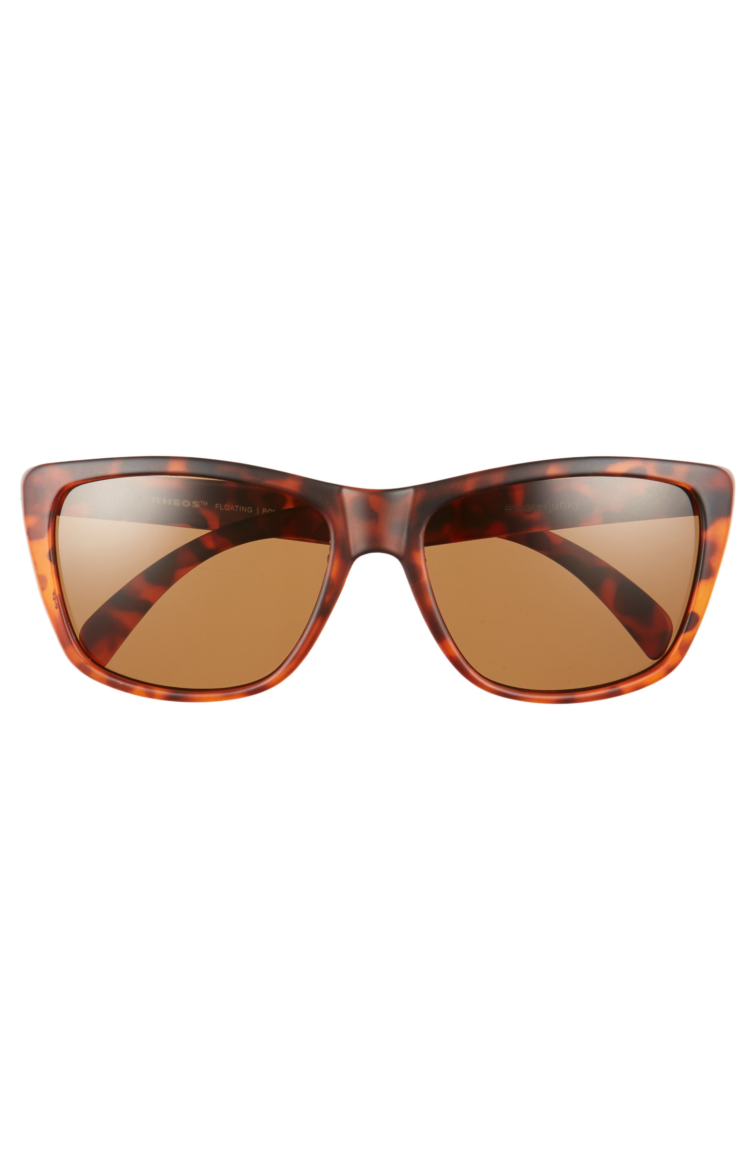 Sapelos Floating 60mm Polarized Sunglasses,                             Alternate thumbnail 2, color,                             Tortoise / Amber