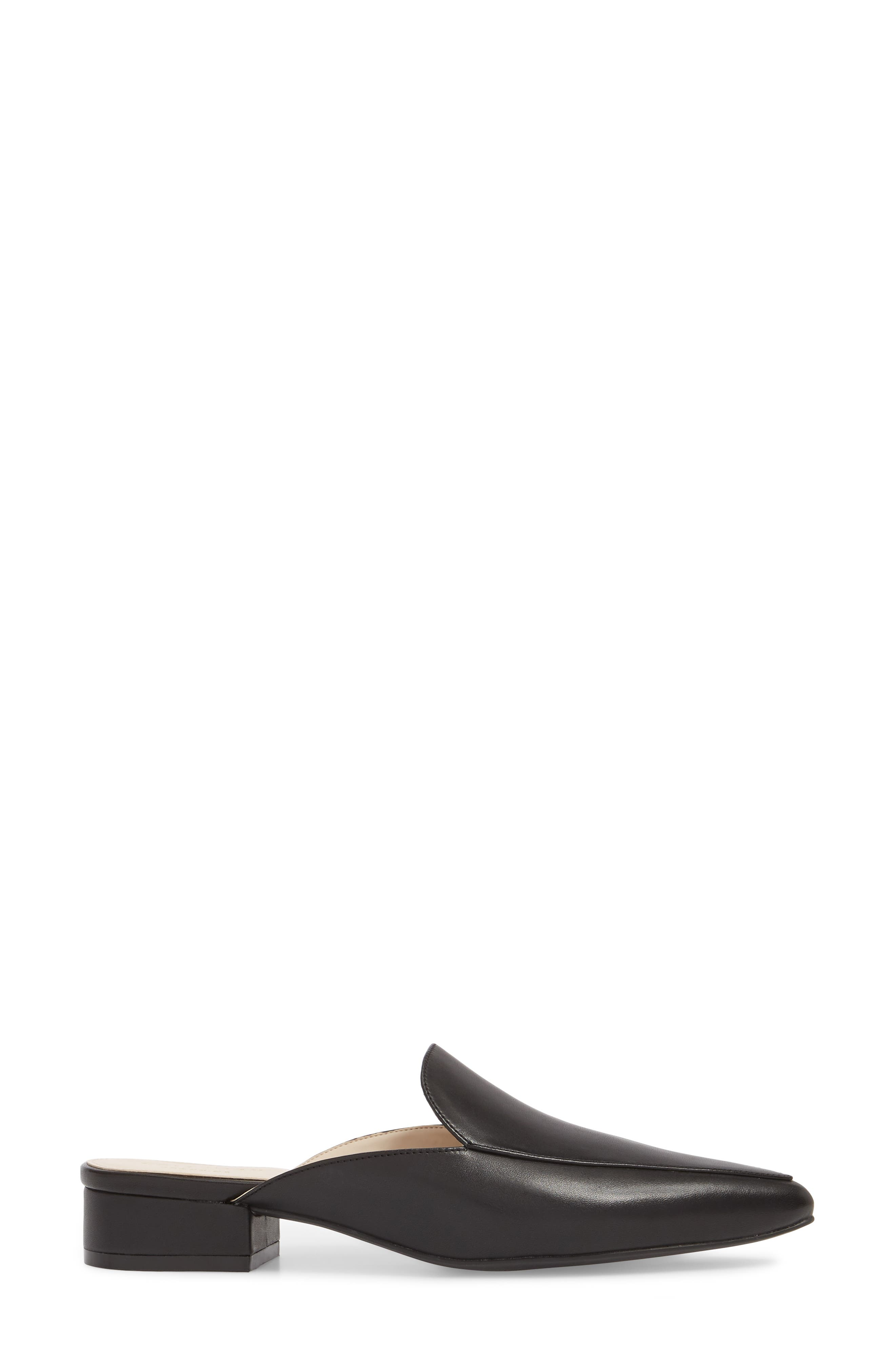Piper Loafer Mule,                             Alternate thumbnail 3, color,                             Black Leather