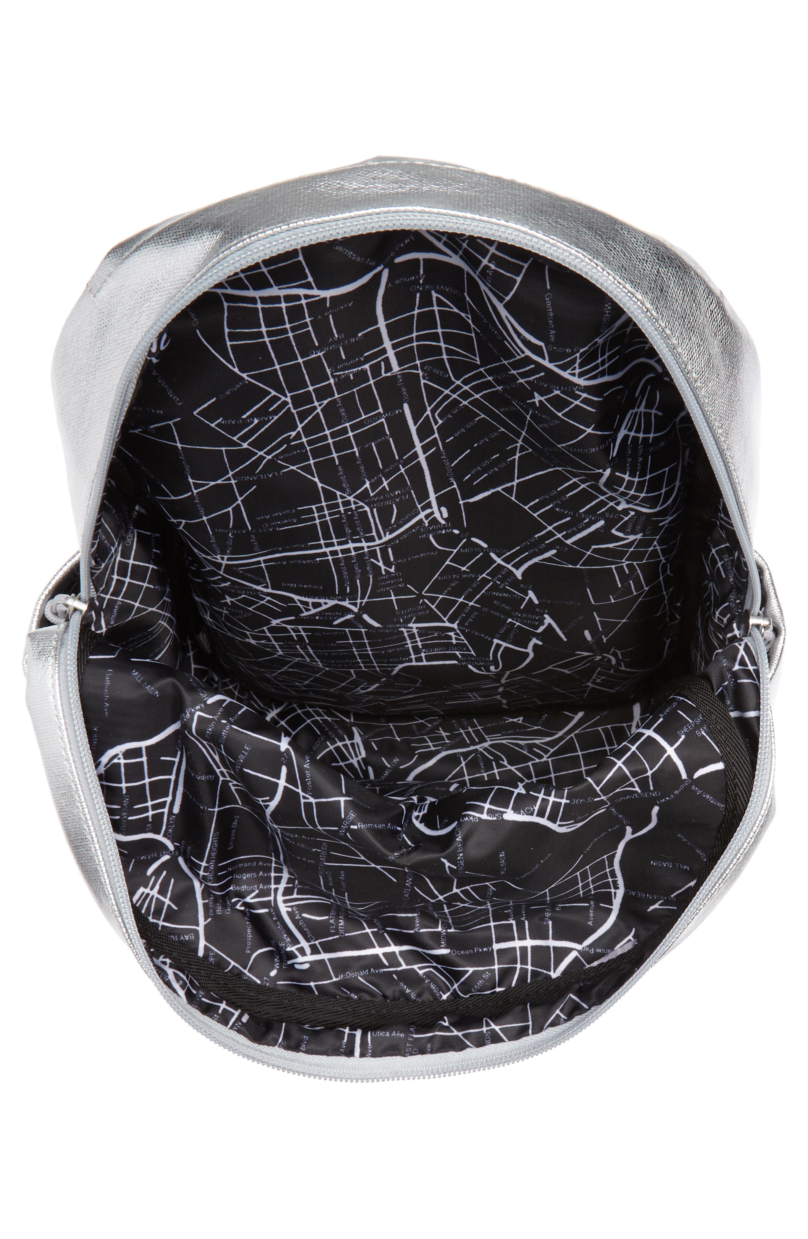 Downtown Mini Kane Canvas Backpack,                             Alternate thumbnail 4, color,                             Silver