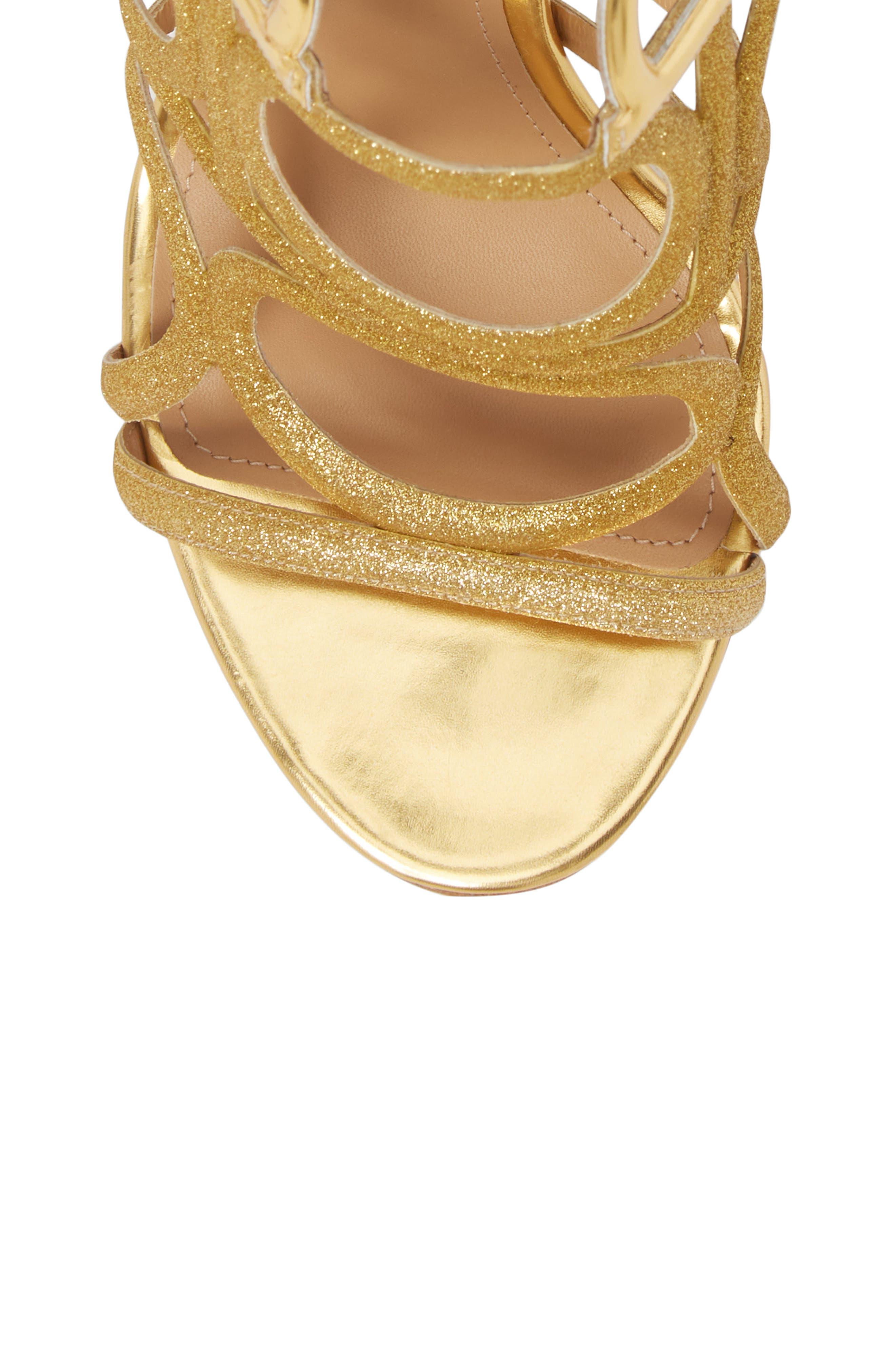 Vinci Lace-Up Sandal,                             Alternate thumbnail 5, color,                             Gold