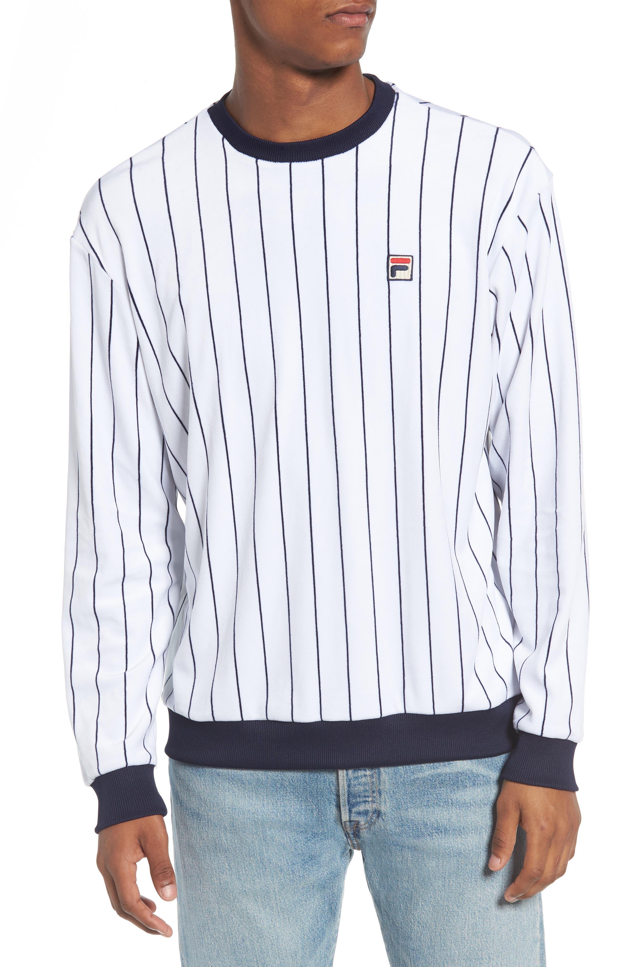 FILA Valencia Stripe Velour Sweatshirt