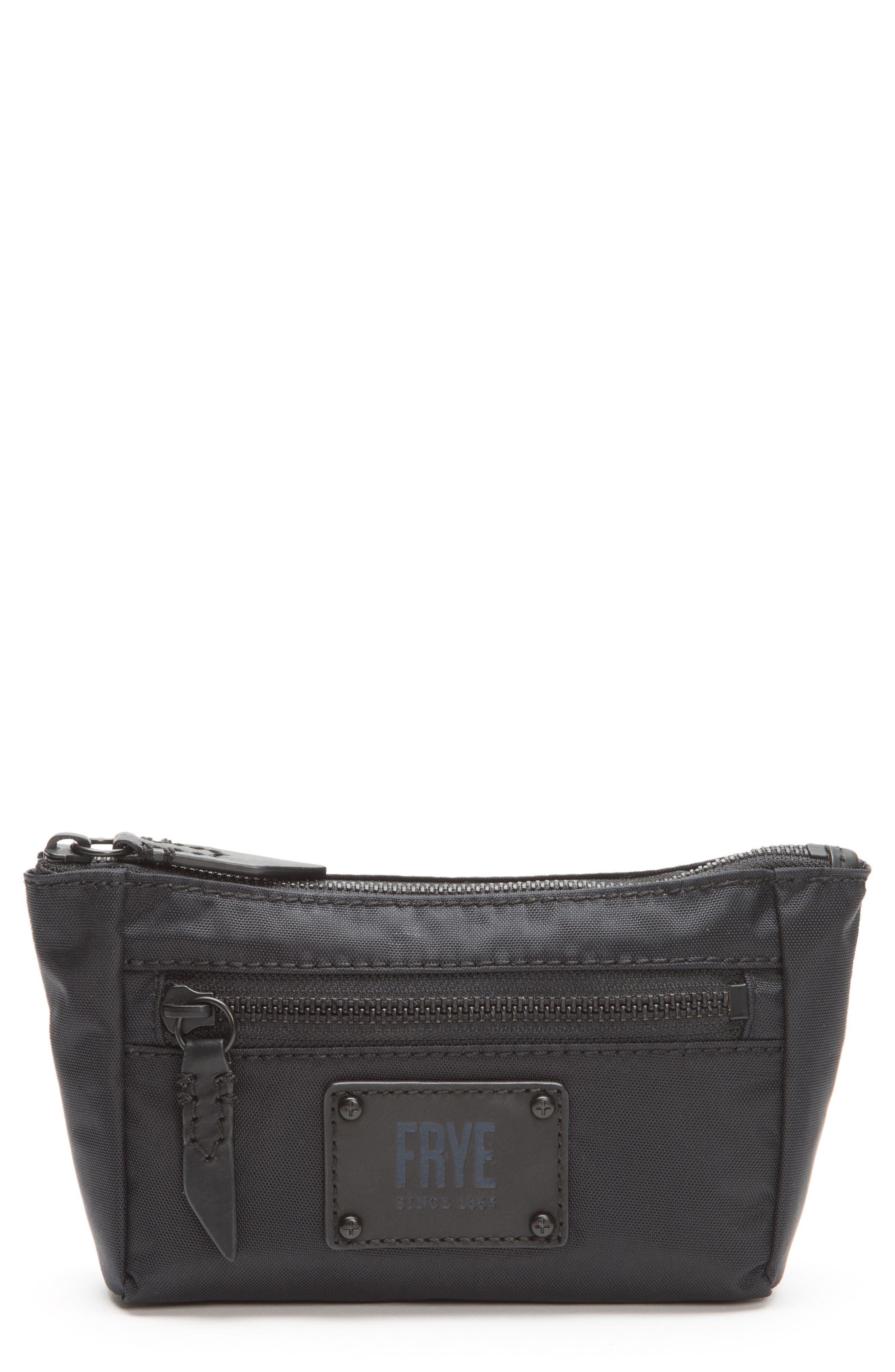 Ivy Nylon Cosmetics Bag,                         Main,                         color, Matte Black