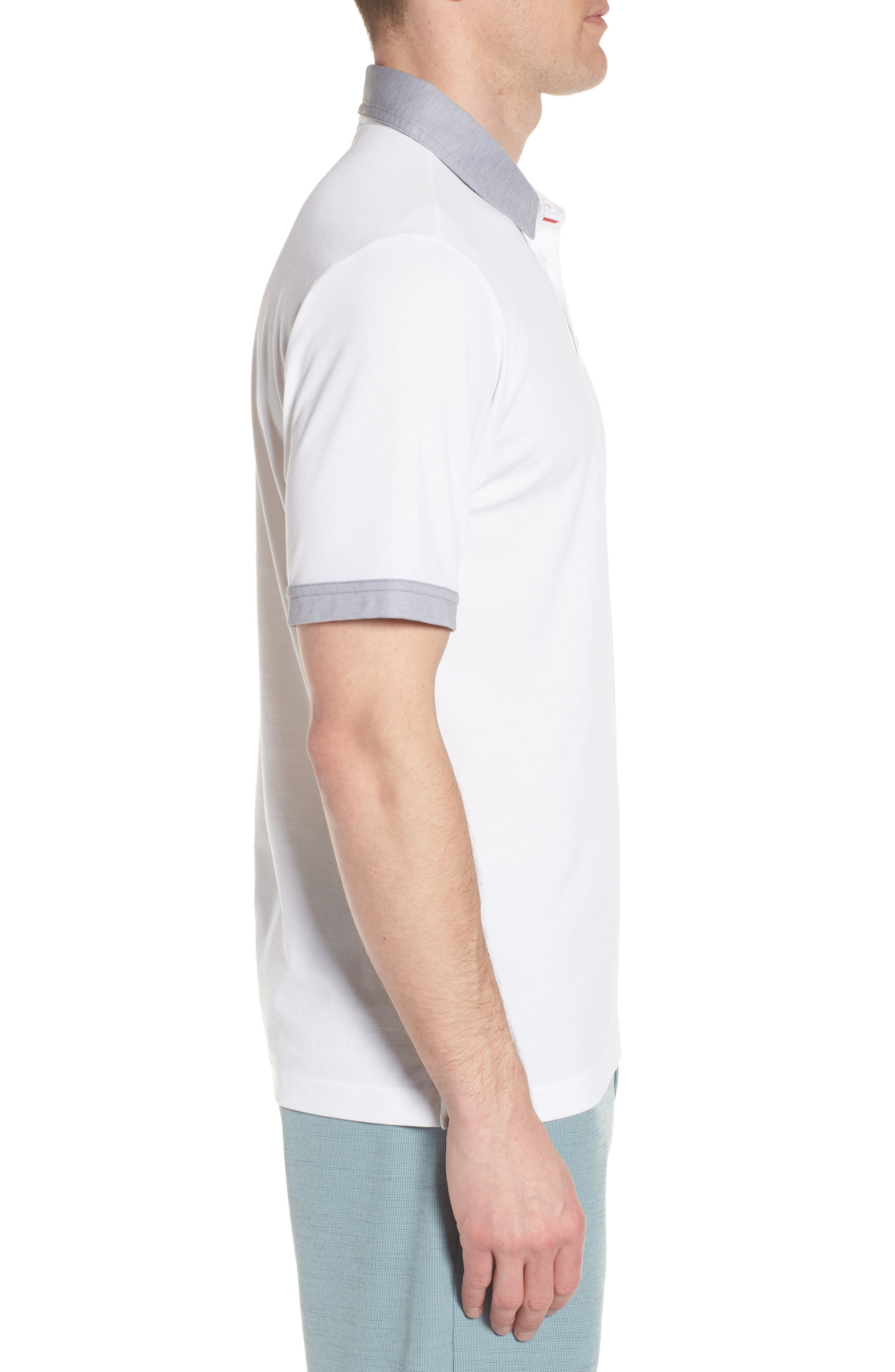 K-Lew Piqué Polo,                             Alternate thumbnail 3, color,                             White