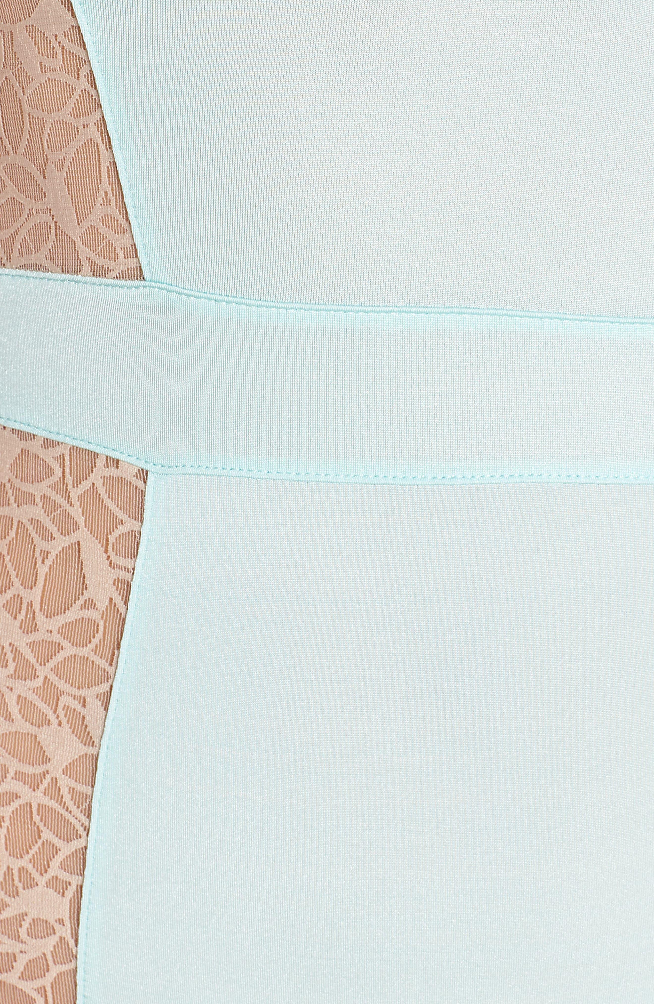 Satin Lace Bodysuit,                             Alternate thumbnail 5, color,                             Blue Plume/ Pink Dust