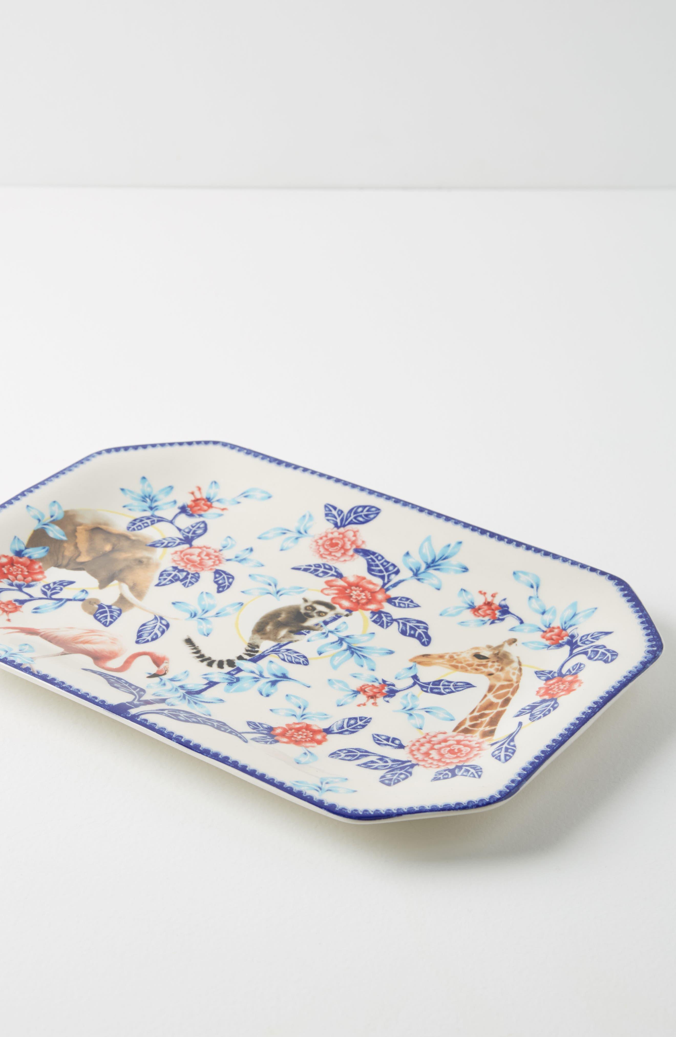 Nature Table Platter,                             Alternate thumbnail 2, color,                             Blue Combo