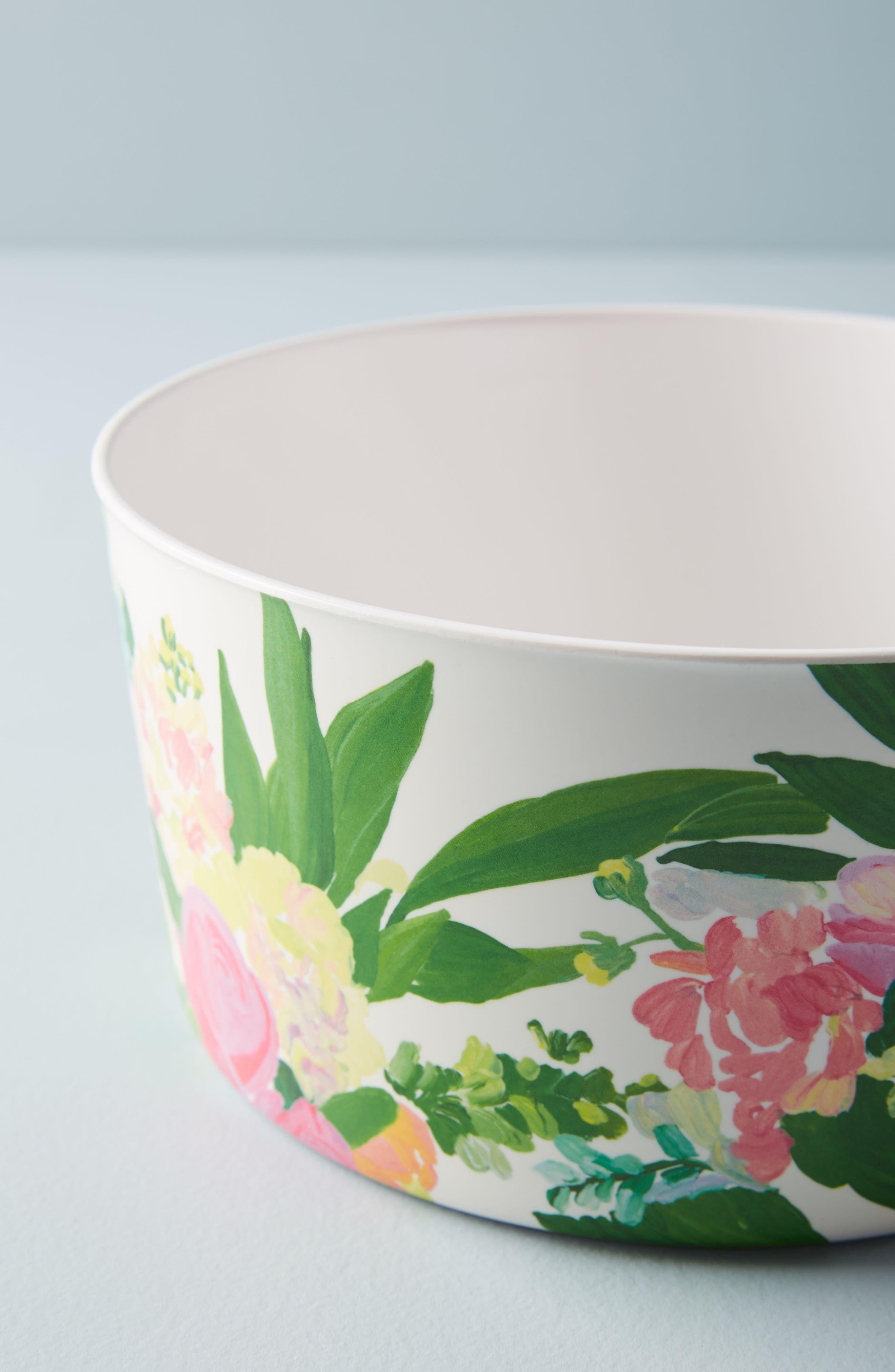 Paint + Petals Melamine Storage Bowl,                             Alternate thumbnail 2, color,                             White Multi