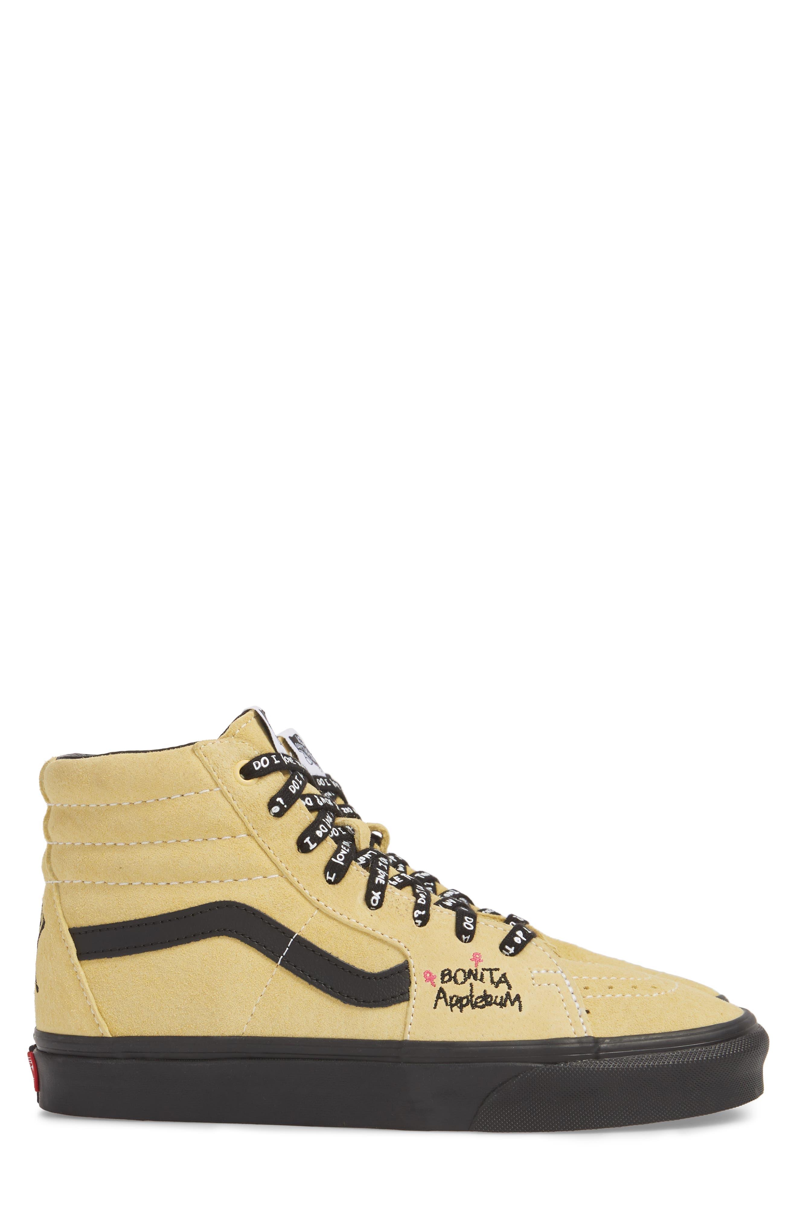 ATCQ Sk8-Hi Sneaker,                             Alternate thumbnail 3, color,                             Mellow Yellow/ Spectra Yellow