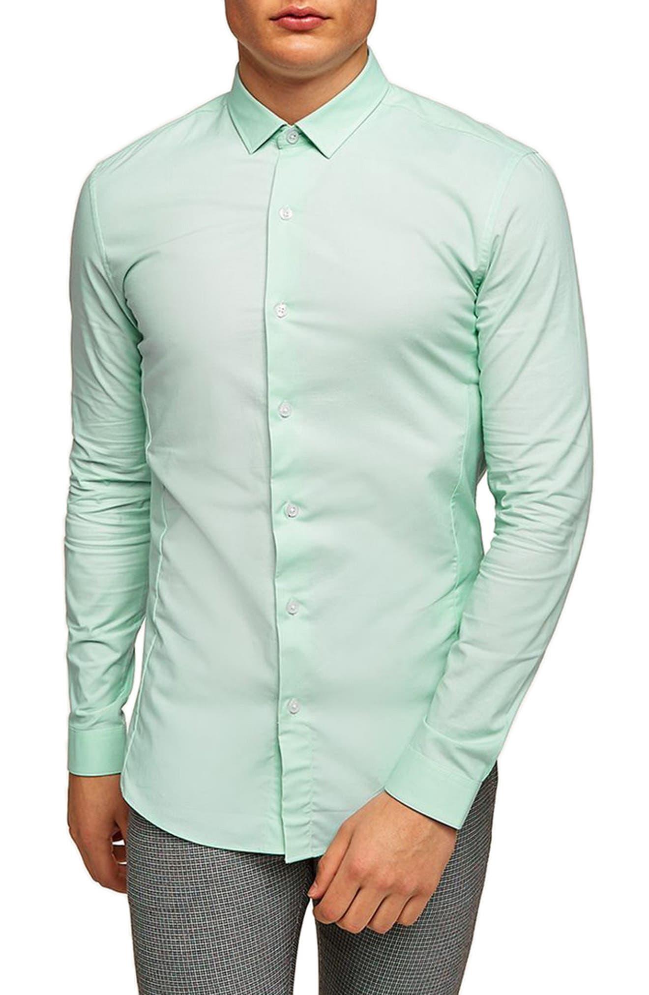 Topman Muscle Fit Textured Shirt