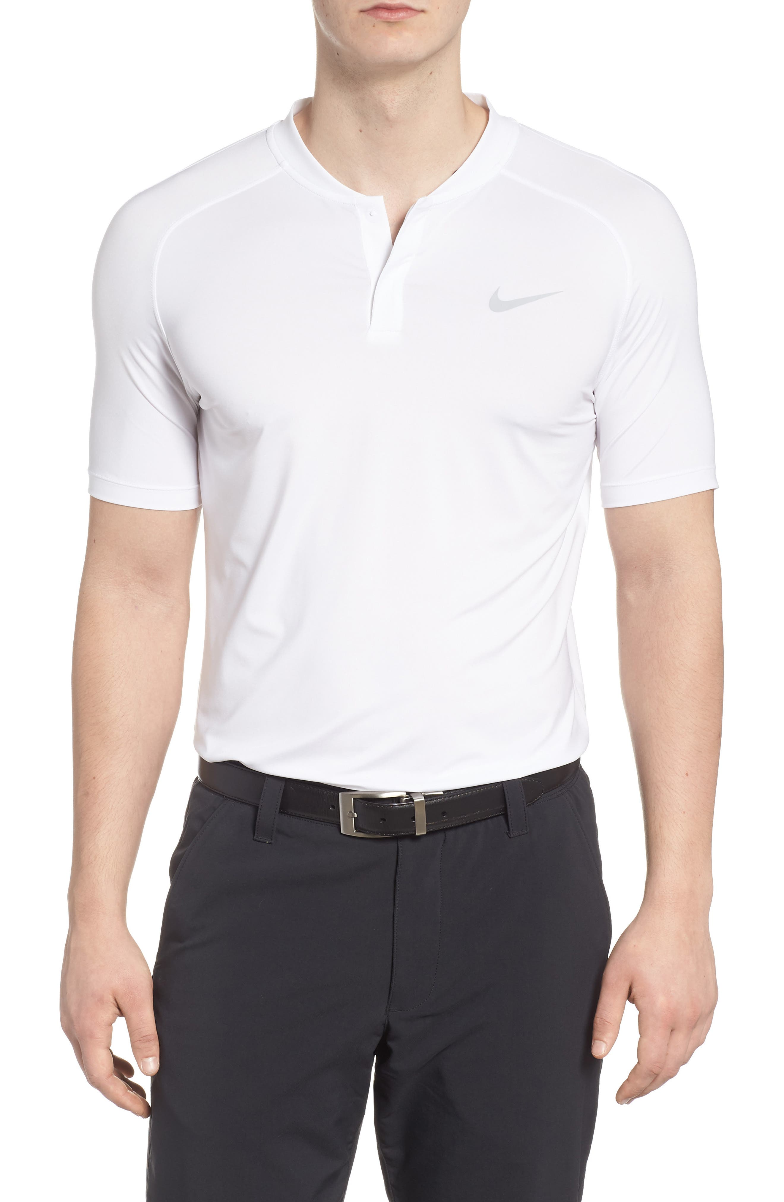Dry Dynamic Slim Fit Polo,                         Main,                         color, White/ Silver