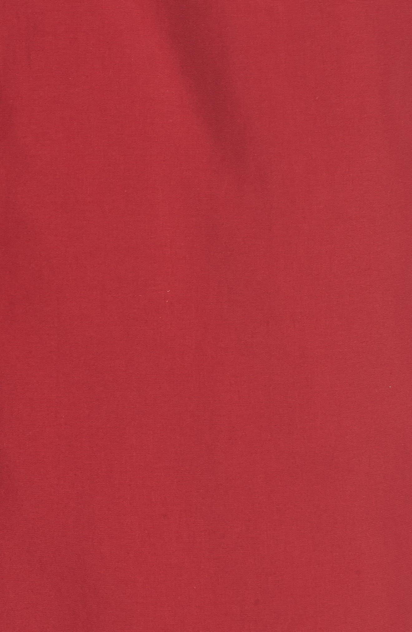 Side Stripe Swim Trunks,                             Alternate thumbnail 5, color,                             Turkey Red