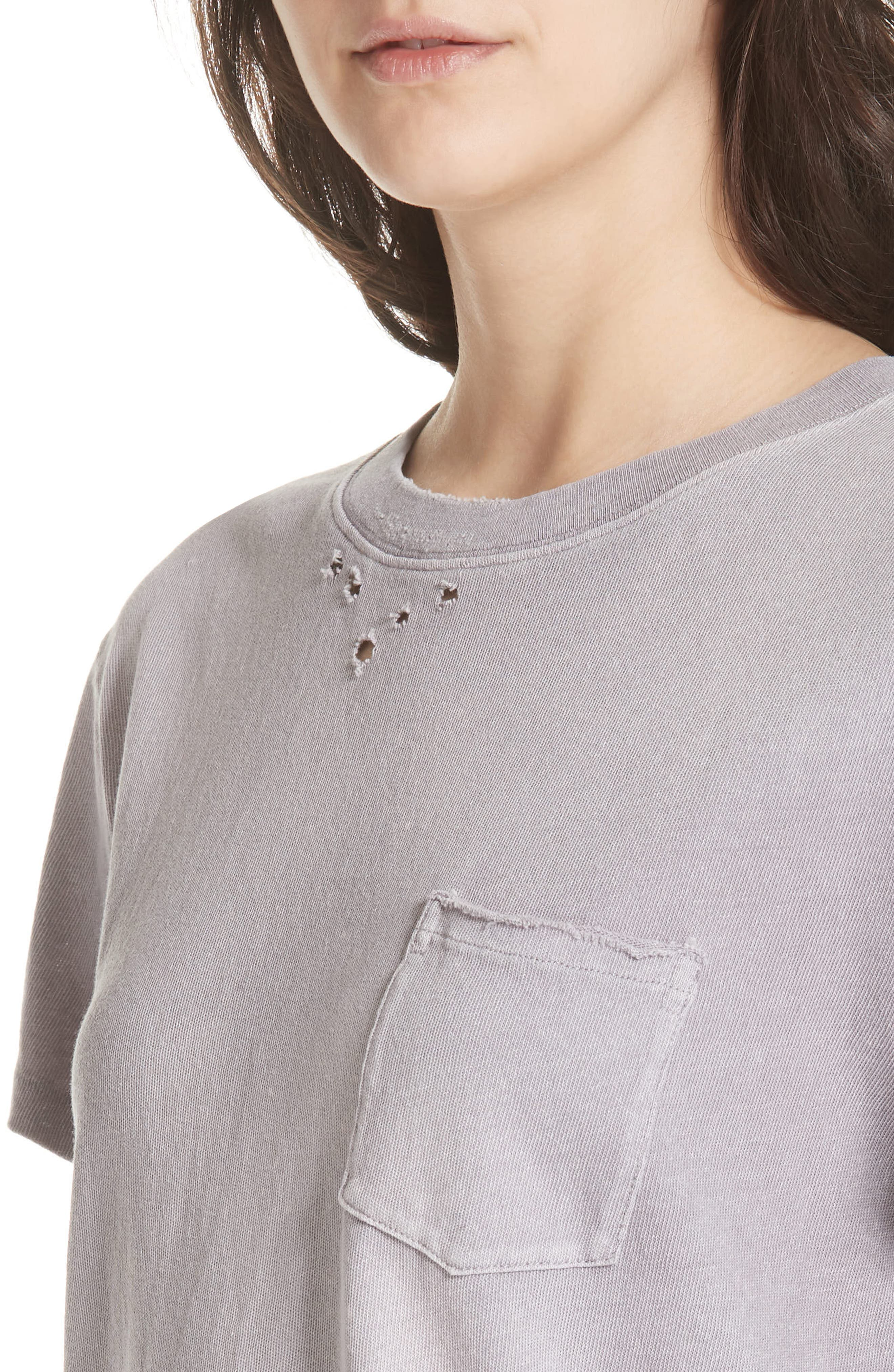 We the People by Free People Vintage Pocket Tee,                             Alternate thumbnail 4, color,                             Lilac