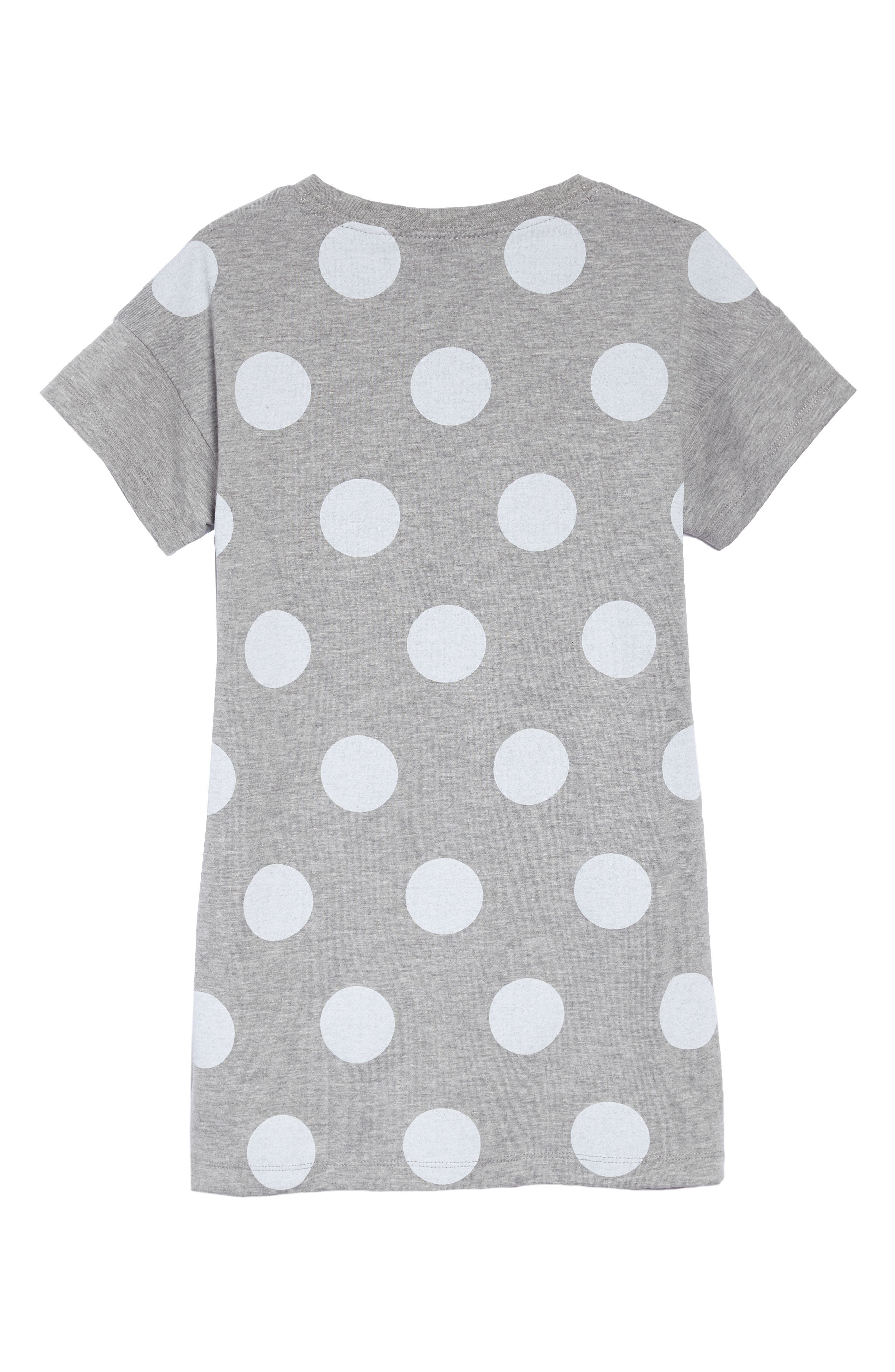 Have a Nike Day T-Shirt Dress,                             Alternate thumbnail 2, color,                             Dk Grey Heather