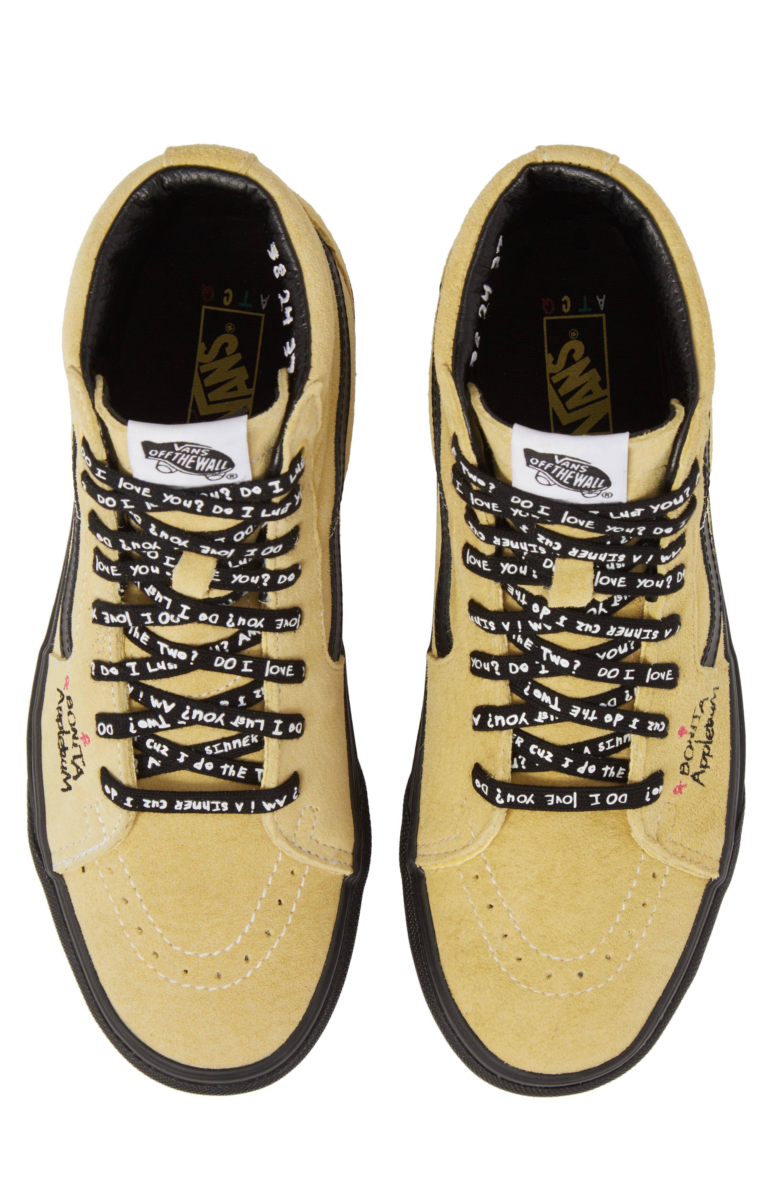 ATCQ Sk8-Hi Sneaker,                             Alternate thumbnail 5, color,                             Mellow Yellow/ Spectra Yellow