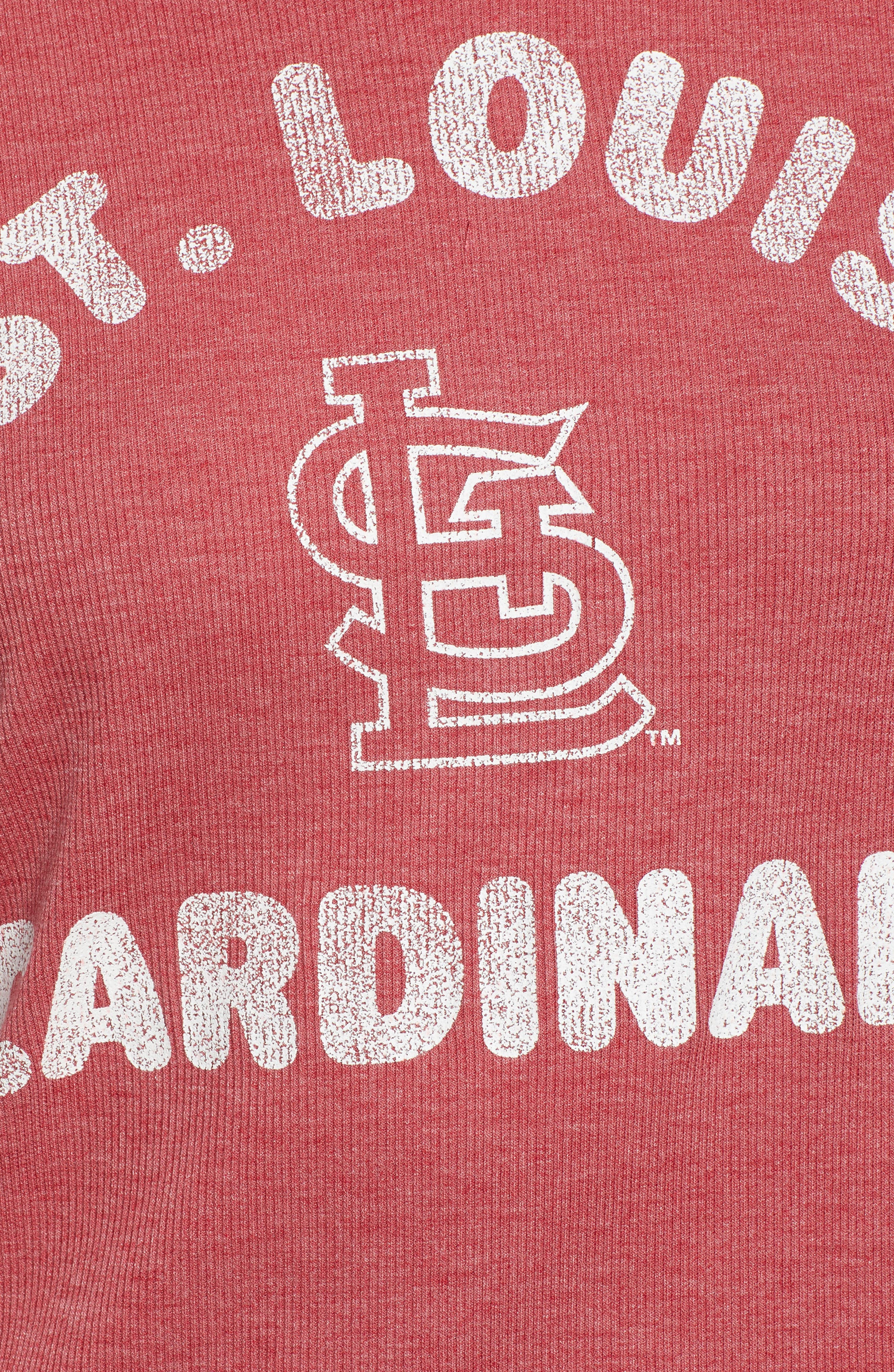 Campbell St. Louis Cardinals Rib Knit Hooded Top,                             Alternate thumbnail 6, color,                             Rescue Red