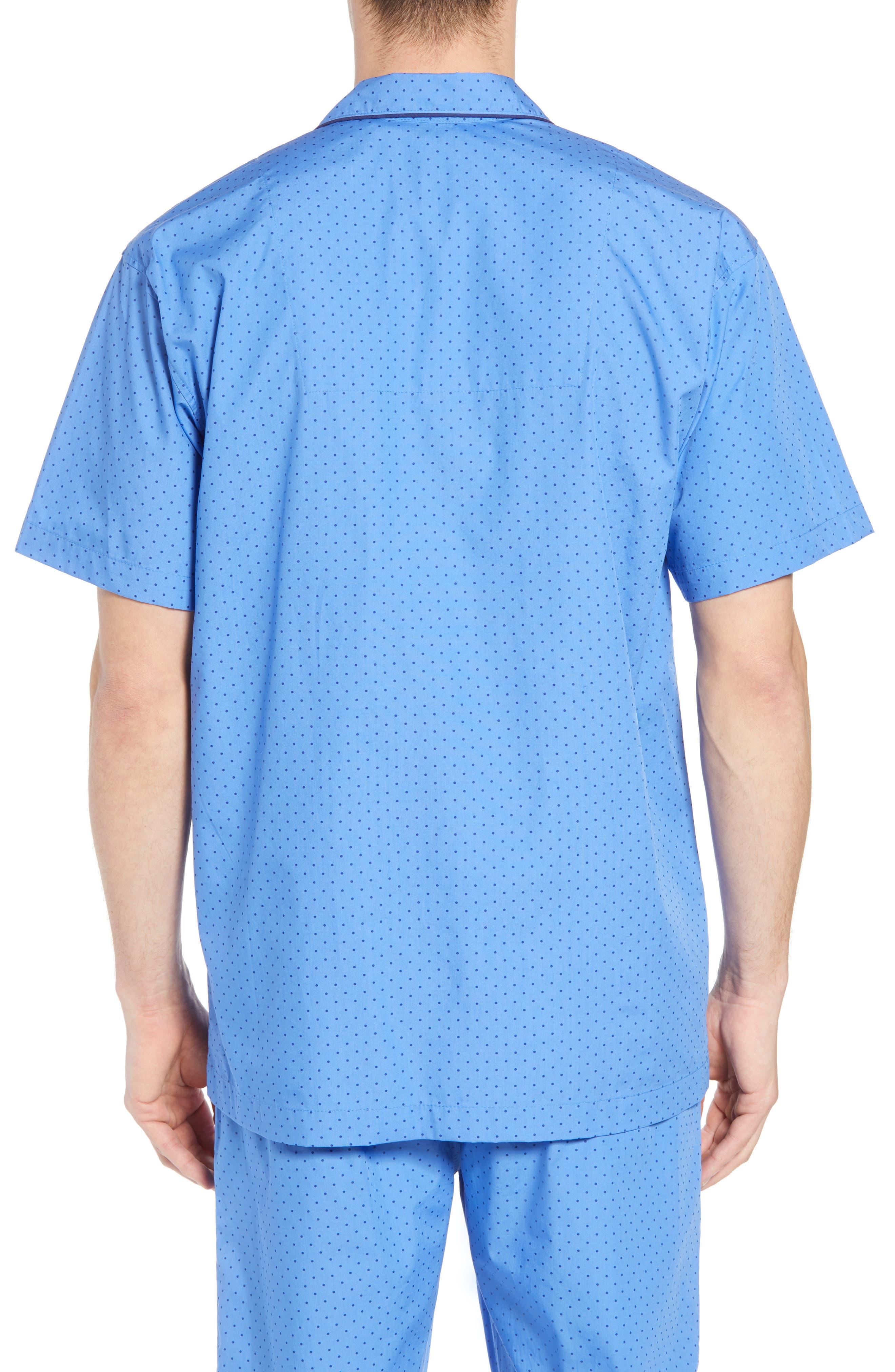 Dot Cotton Pajama Shirt,                             Alternate thumbnail 2, color,                             Harbour Island Blue/ Navy