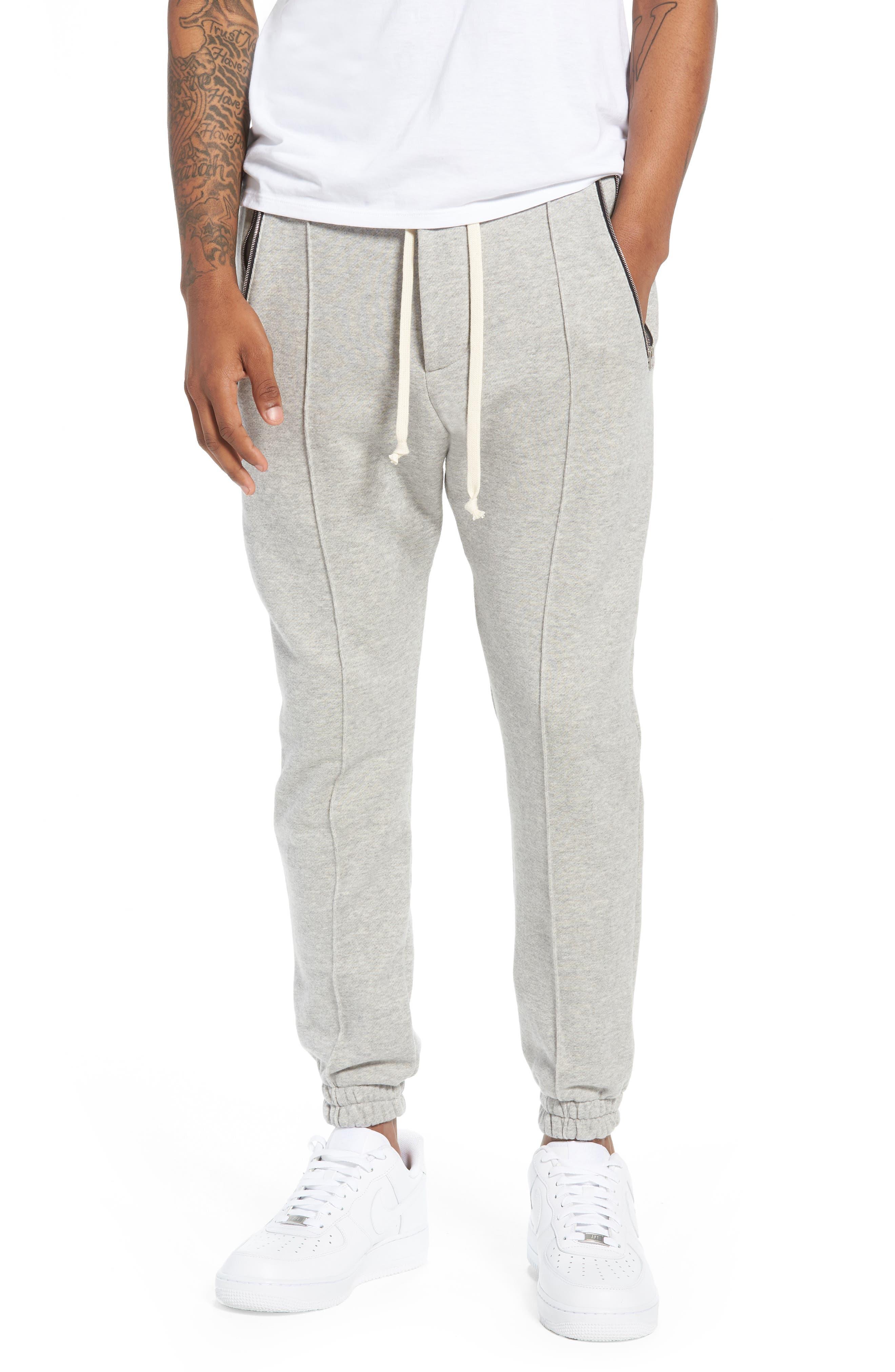 Plaid Jogger Pants,                         Main,                         color, Grey