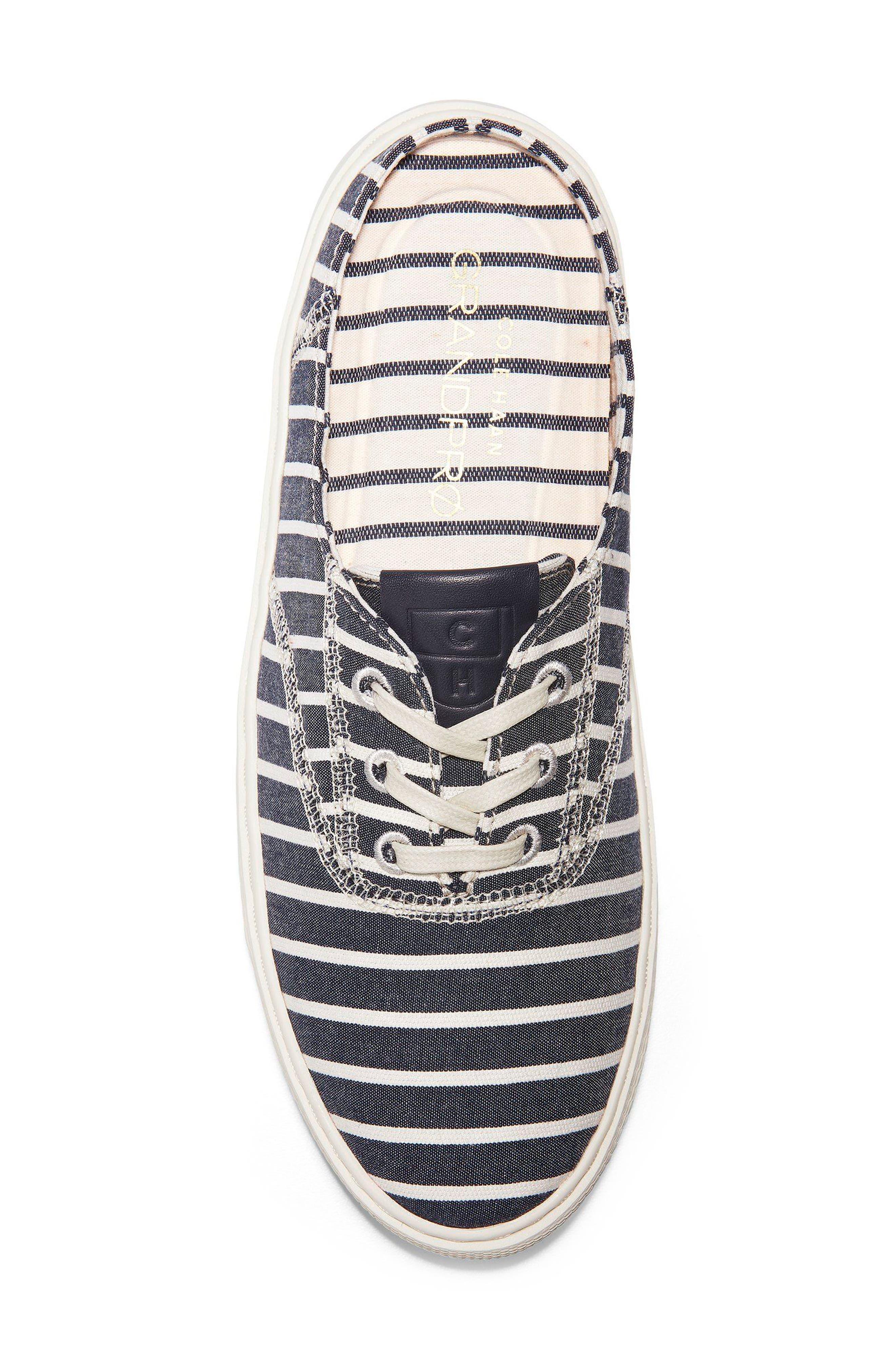 GrandPro Deck Sneaker,                             Alternate thumbnail 5, color,                             Freeport Stripe Fabric