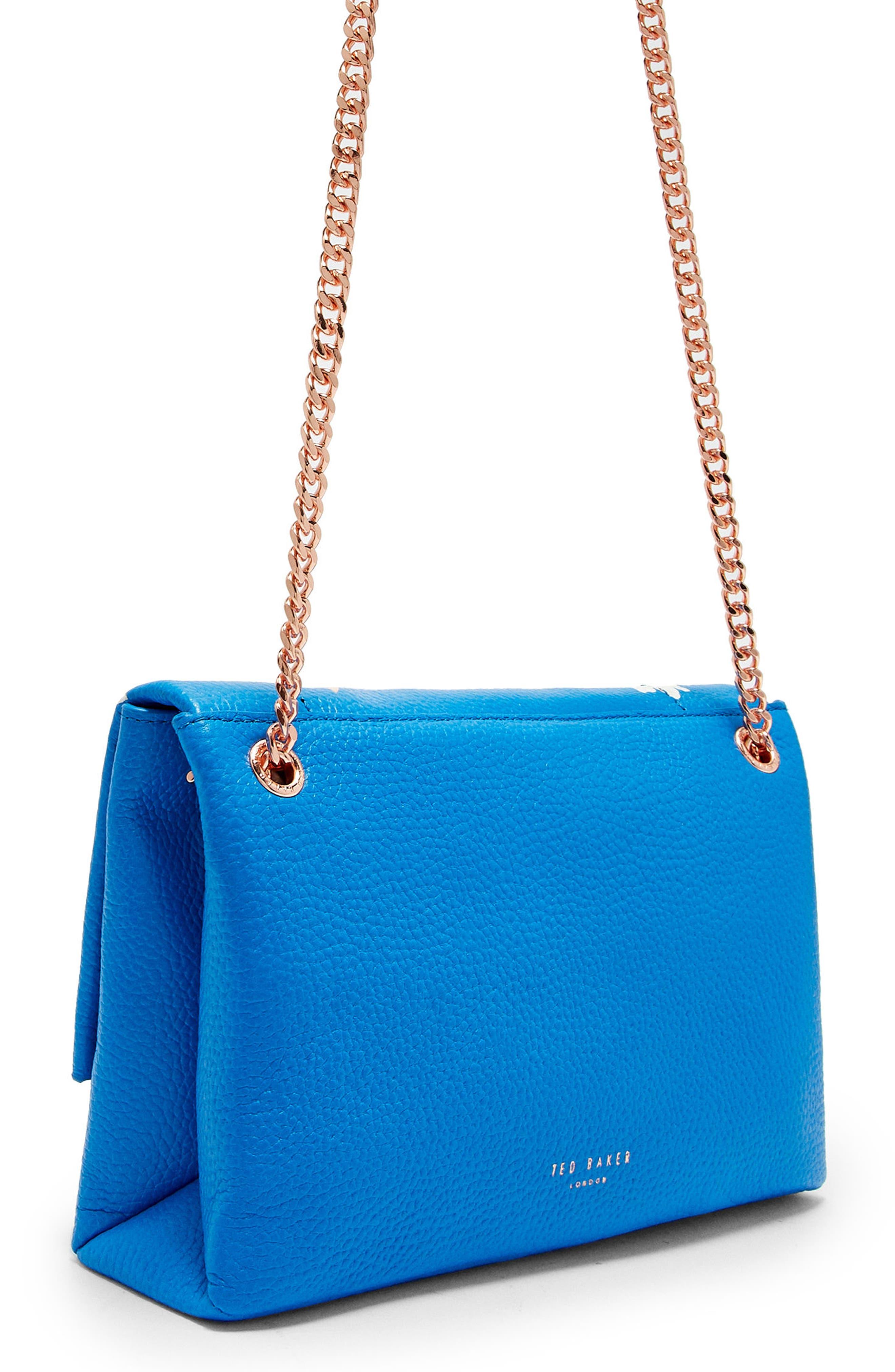 Haalle Harmony Leather Crossbody Bag,                             Alternate thumbnail 2, color,                             Bright Blue