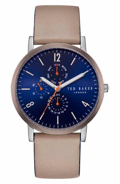 Ted Baker London Graham Leather Strap Watch dcdbabfec