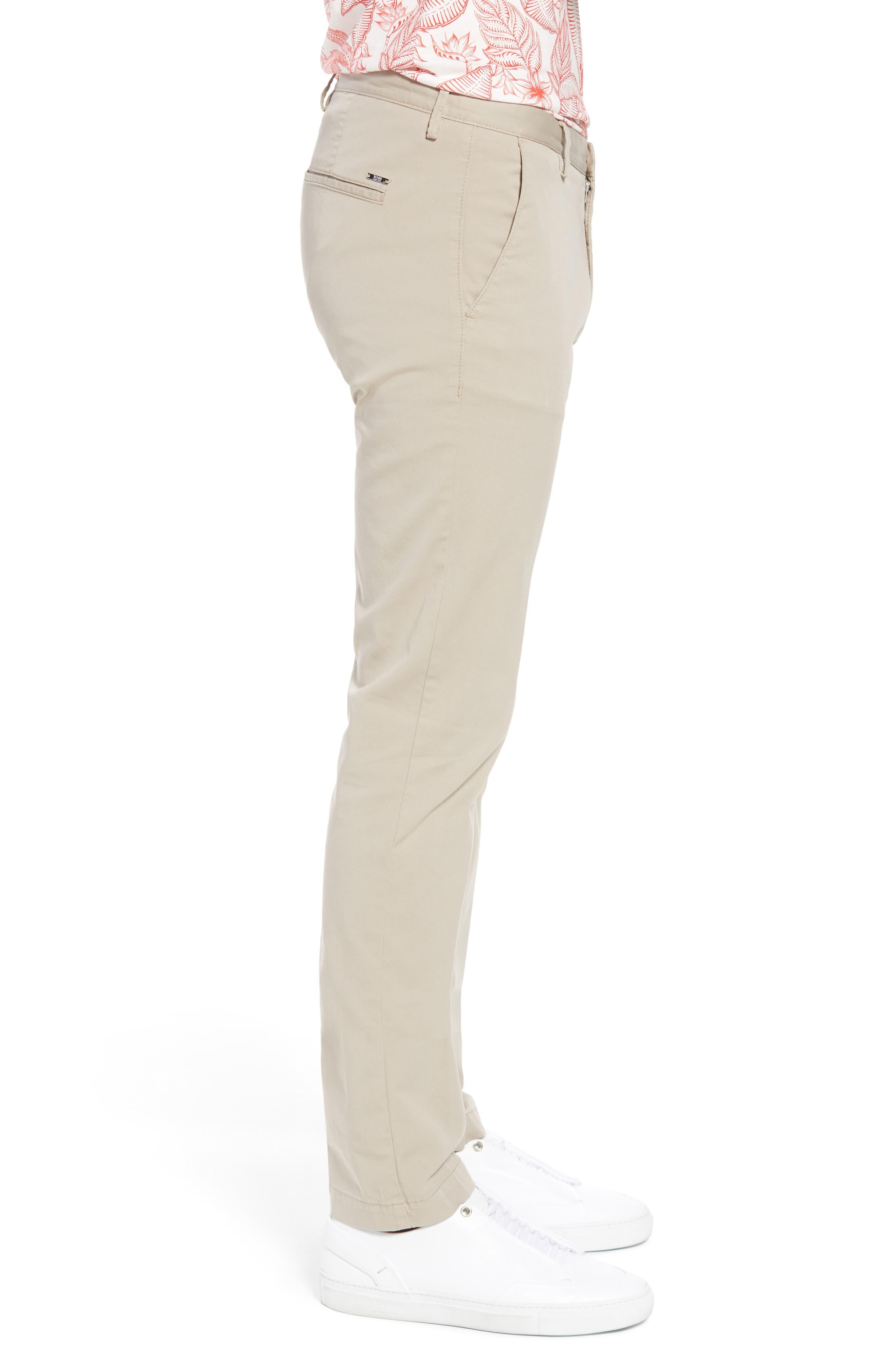 Rice Slim Fit Chino Pants,                             Alternate thumbnail 3, color,                             Brown