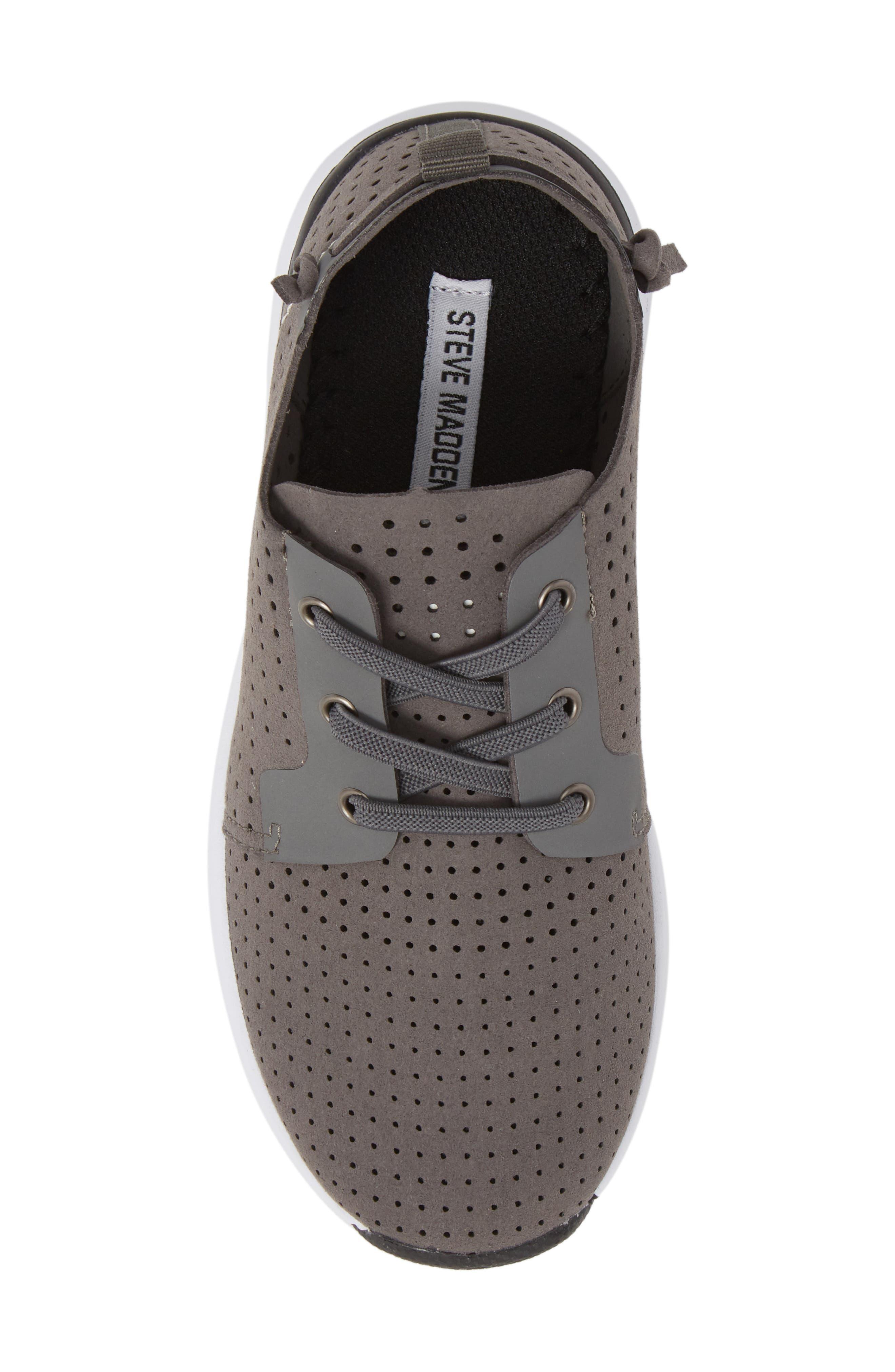 Brixxon Perforated Sneaker,                             Alternate thumbnail 5, color,                             Grey