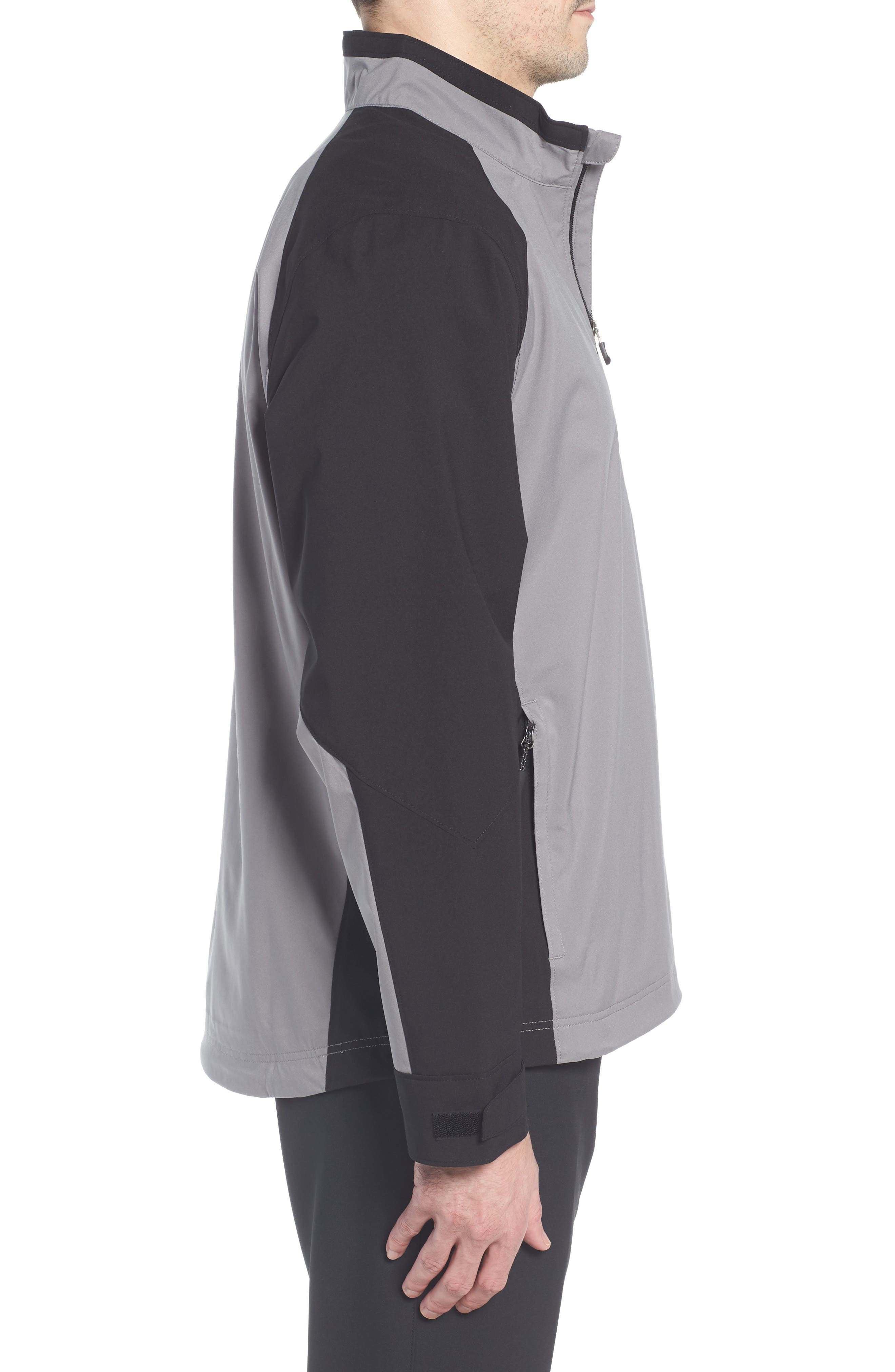 'Summit' WeatherTec Wind & Water Resistant Half Zip Jacket,                             Alternate thumbnail 3, color,                             Gravel