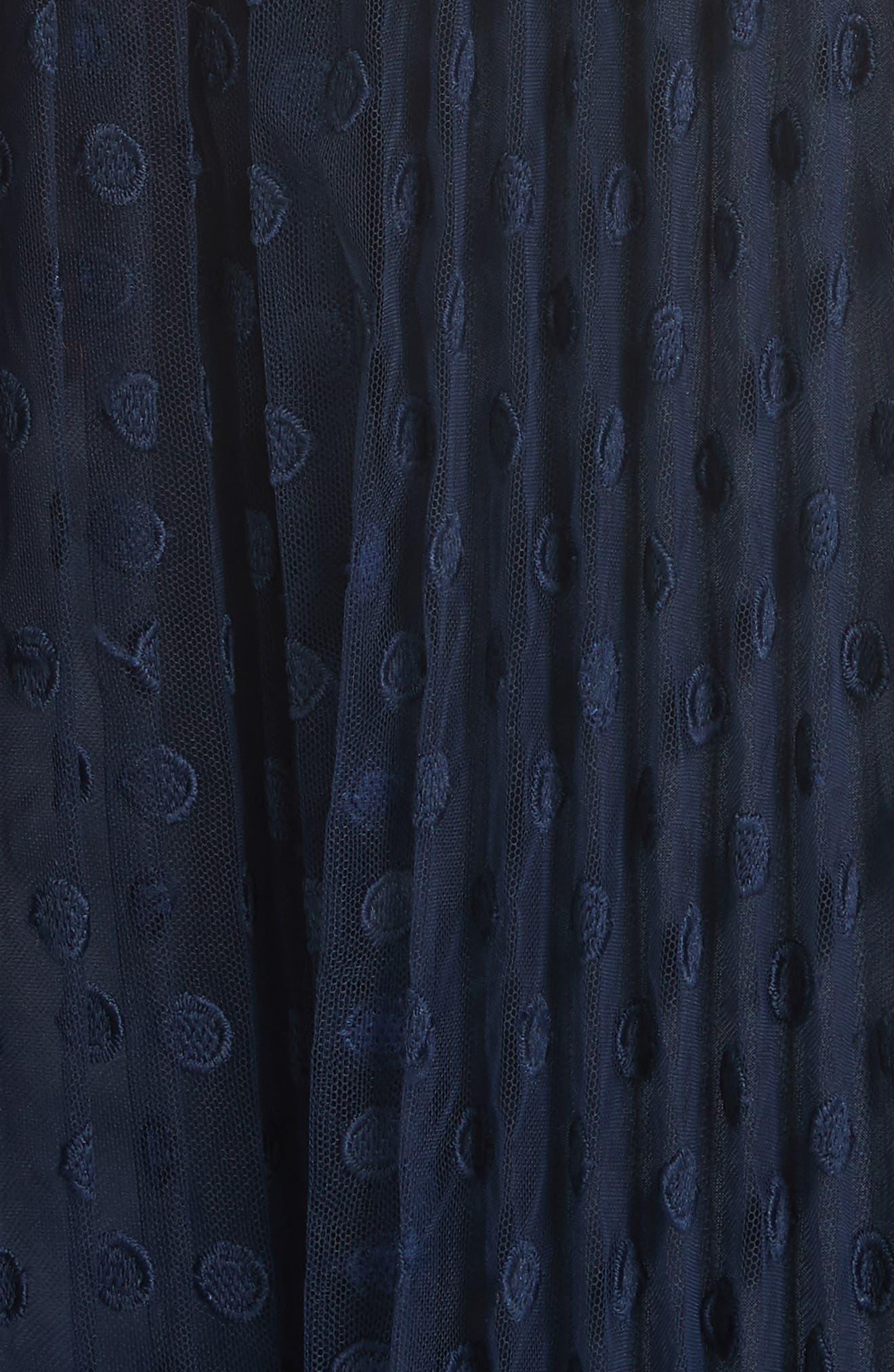 kate spade denisse dress,                             Alternate thumbnail 5, color,                             Rich Navy