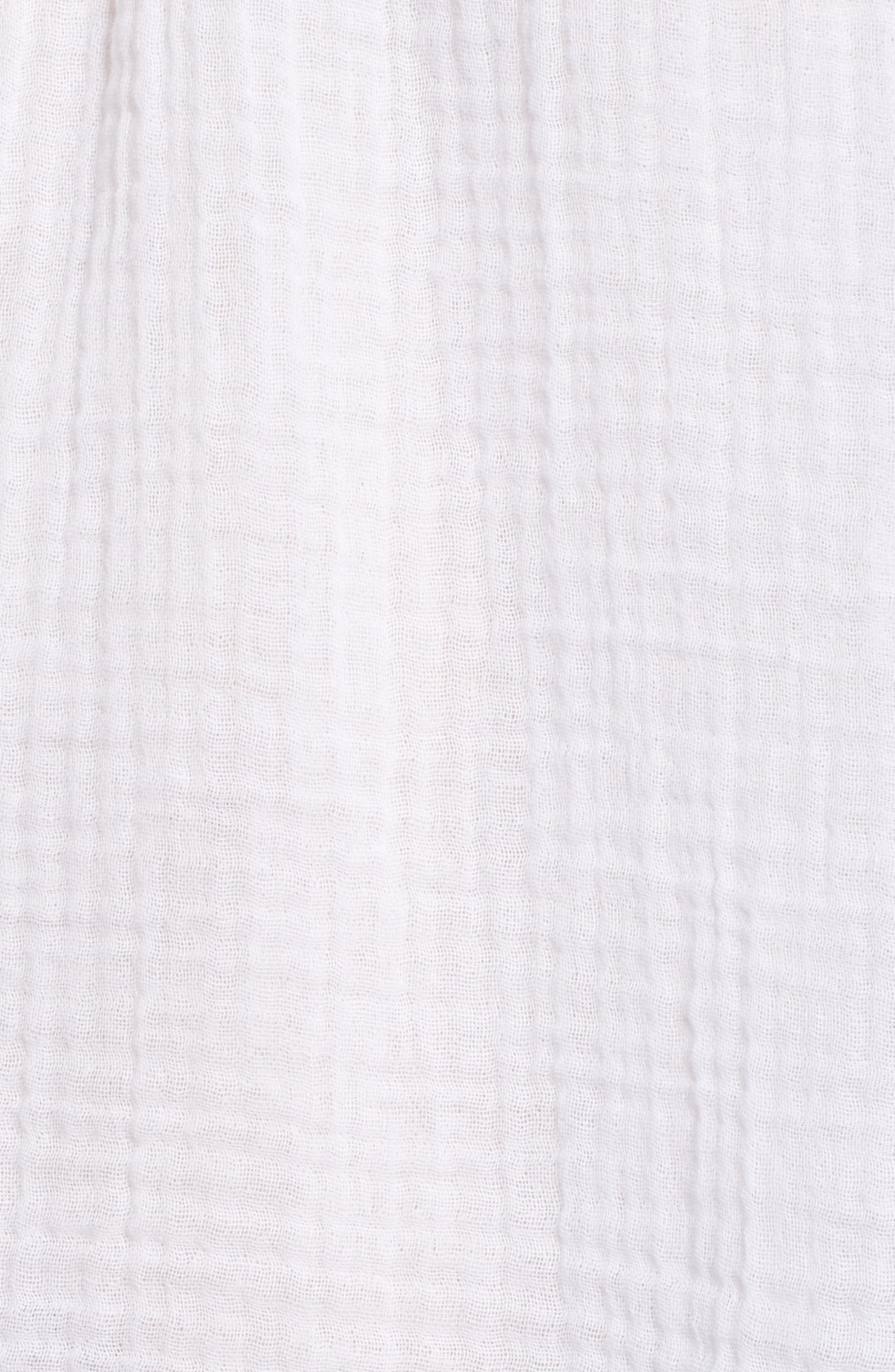 Cotton Gauze Peasant Top,                             Alternate thumbnail 6, color,                             White