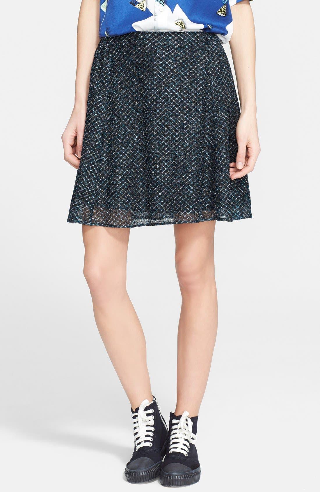 Alternate Image 1 Selected - Julien David Lamé Lace Skirt