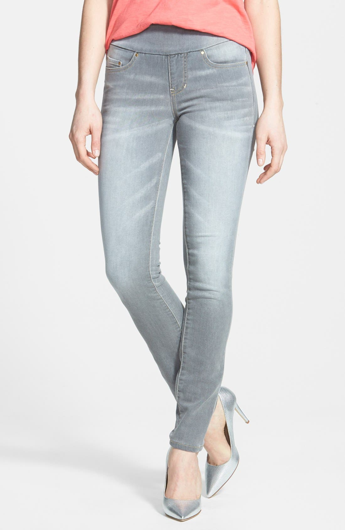 Alternate Image 1 Selected - Jag Jeans 'Nora' Pull-On Stretch Knit Skinny Jeans (Antique Tint)