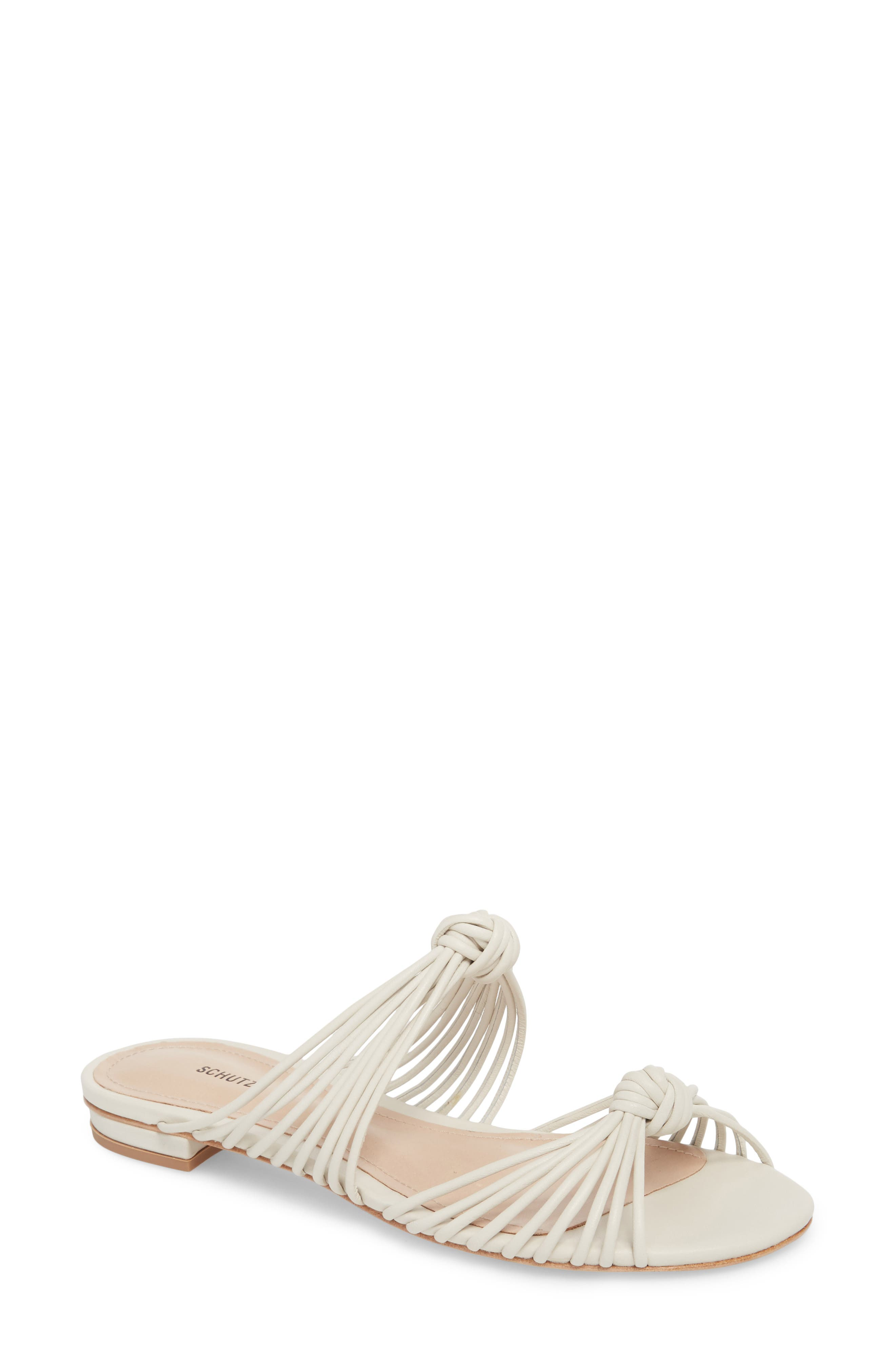Nitiely Slide Sandal,                             Main thumbnail 1, color,                             Pearl Fabric