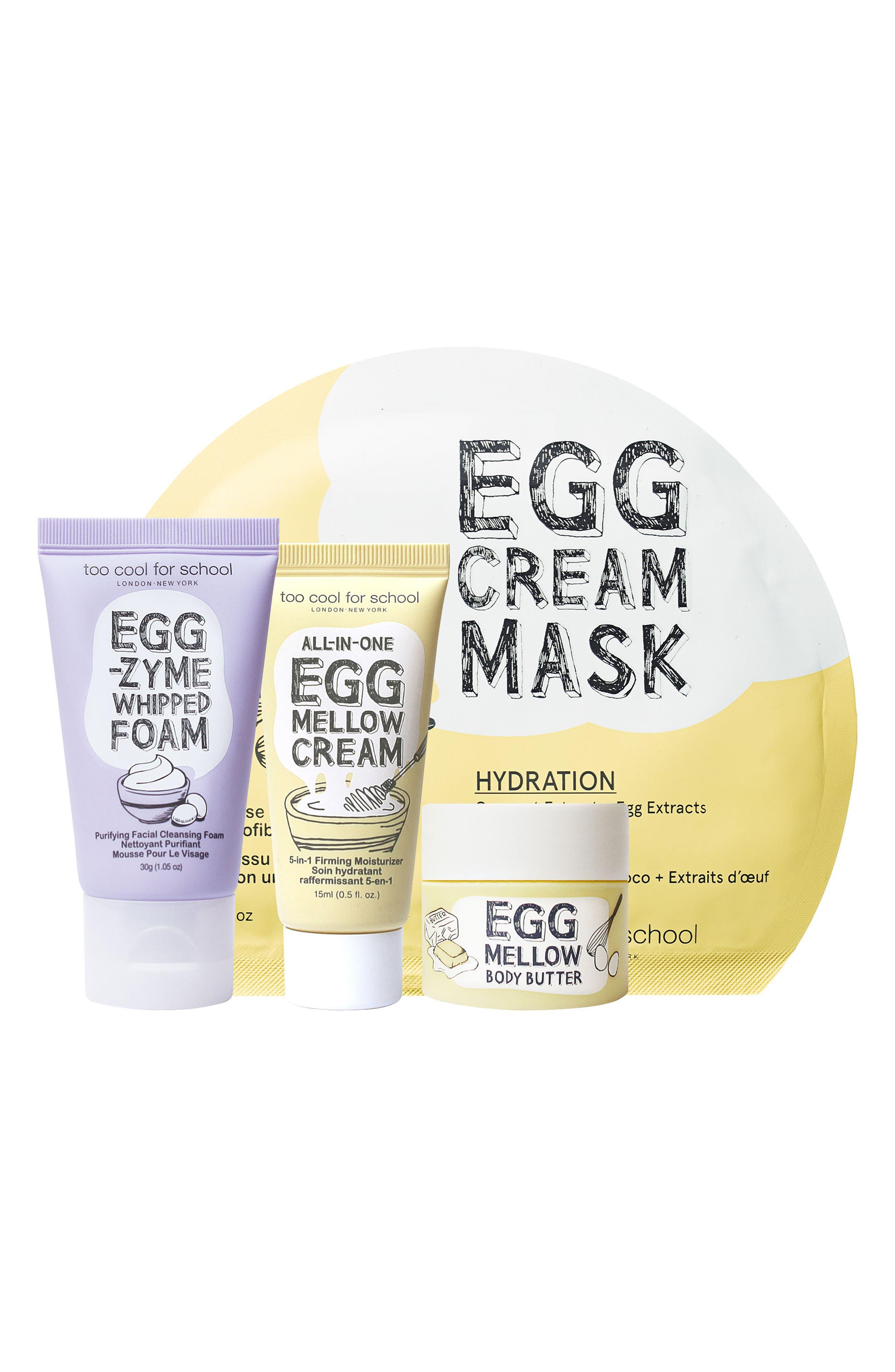 Egg-Ssential Skin Care Mini Set,                             Main thumbnail 1, color,                             No Color