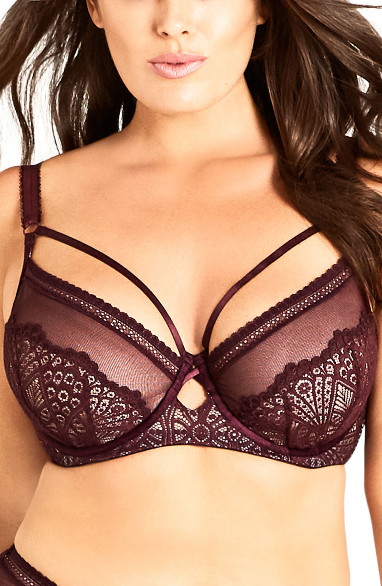 City Chic Darcy Underwire Contour Bra (Plus Size)
