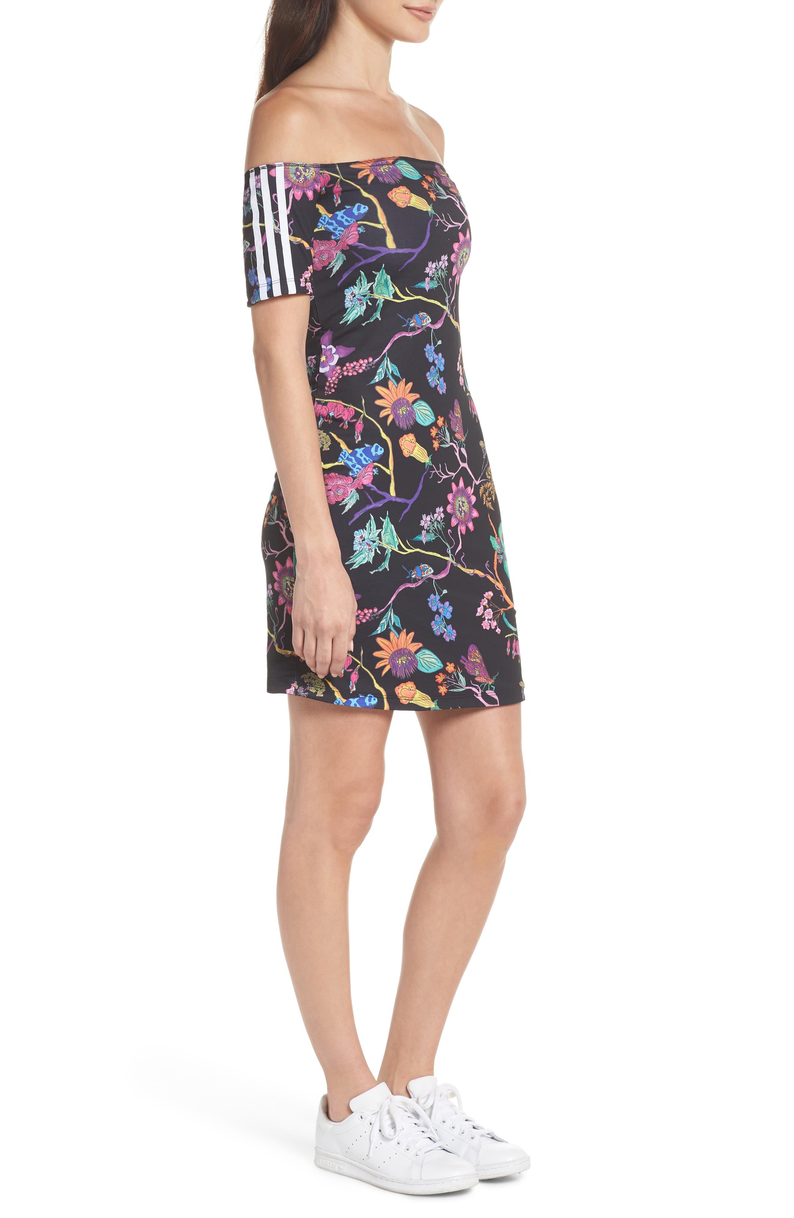 Alternate Image 4  - adidas Originals Reversible Off the Shoulder Dress