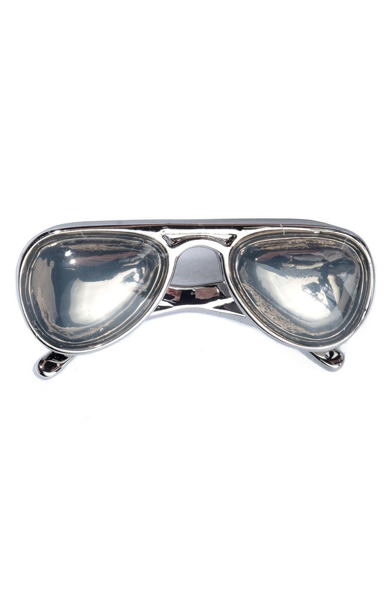 Sunglasses Lapel Pin,                         Main,                         color, Silver