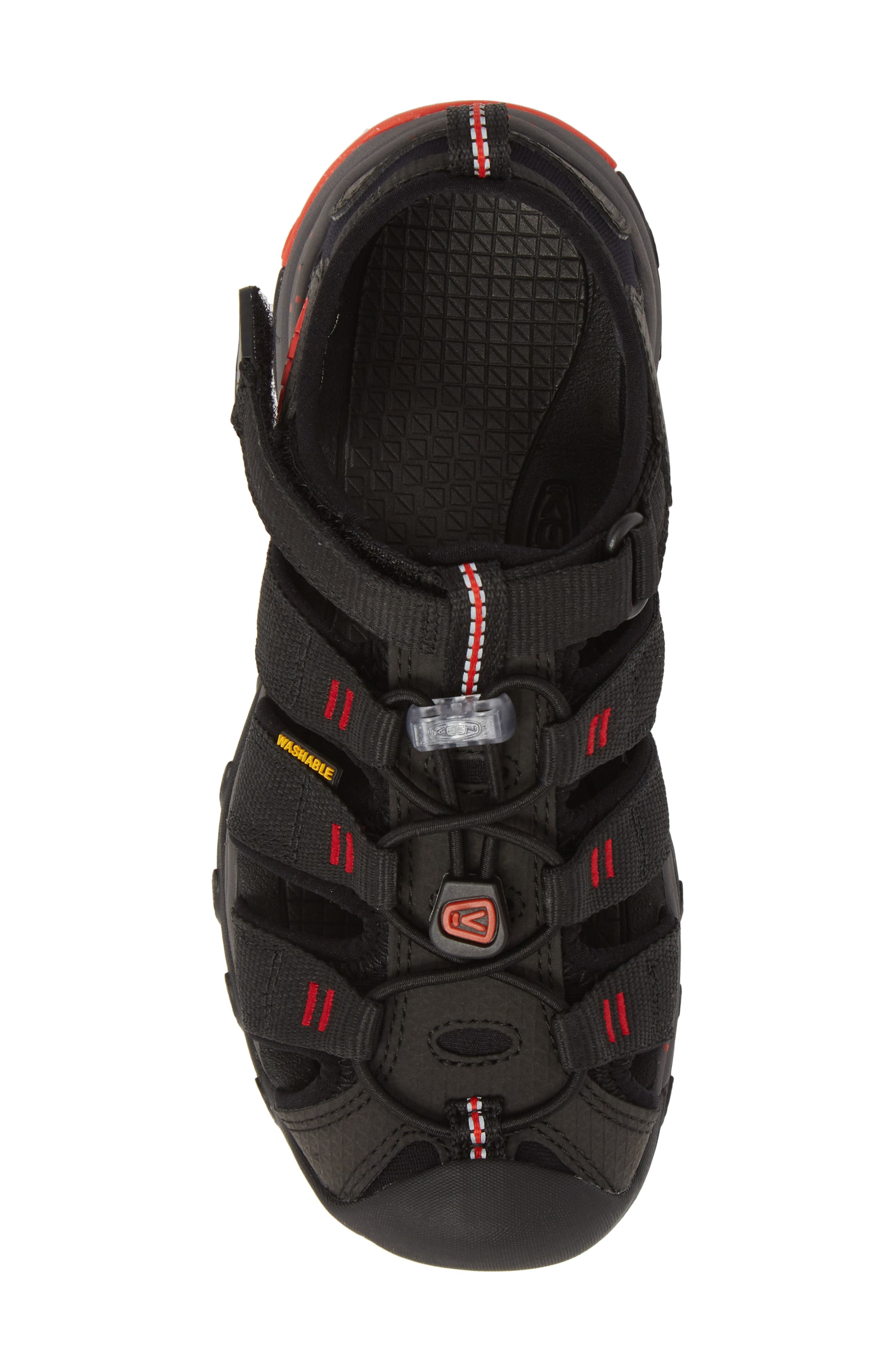 Newport Neo H2 Water Friendly Sandal,                             Alternate thumbnail 5, color,                             Black/ Fiery Red