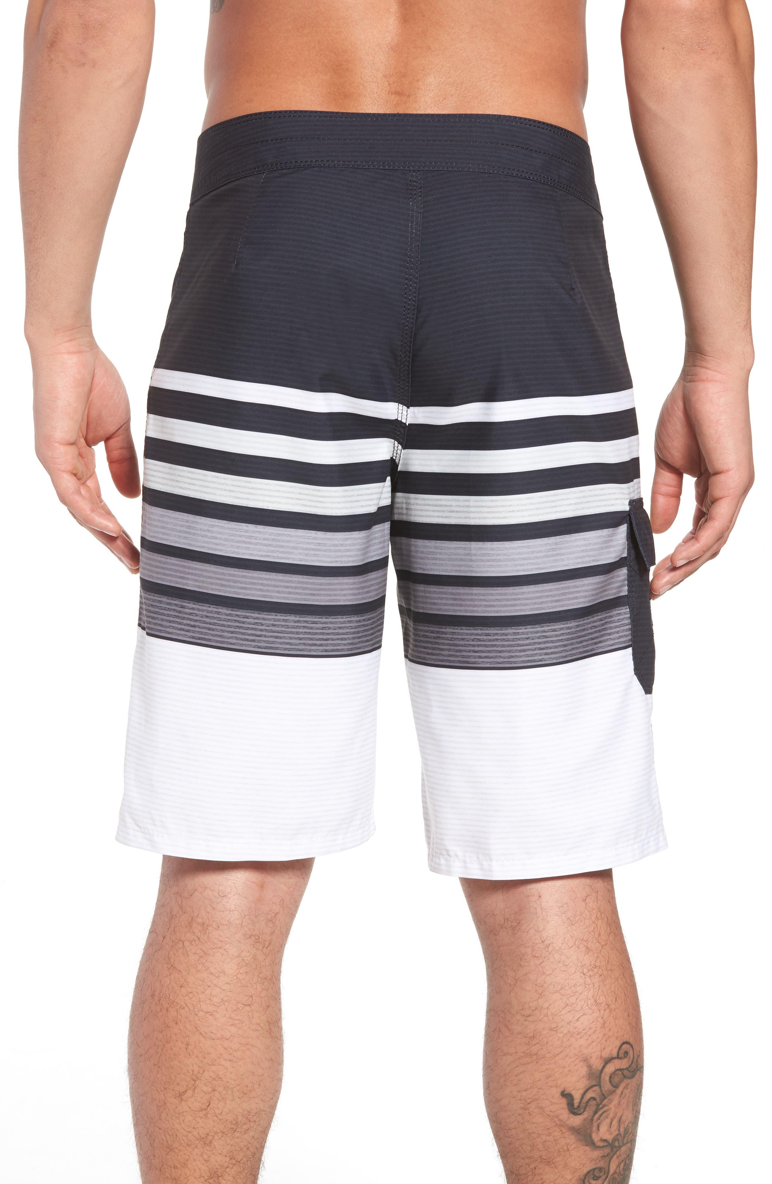 All Day OG Stripe Board Shorts,                             Alternate thumbnail 2, color,                             Black