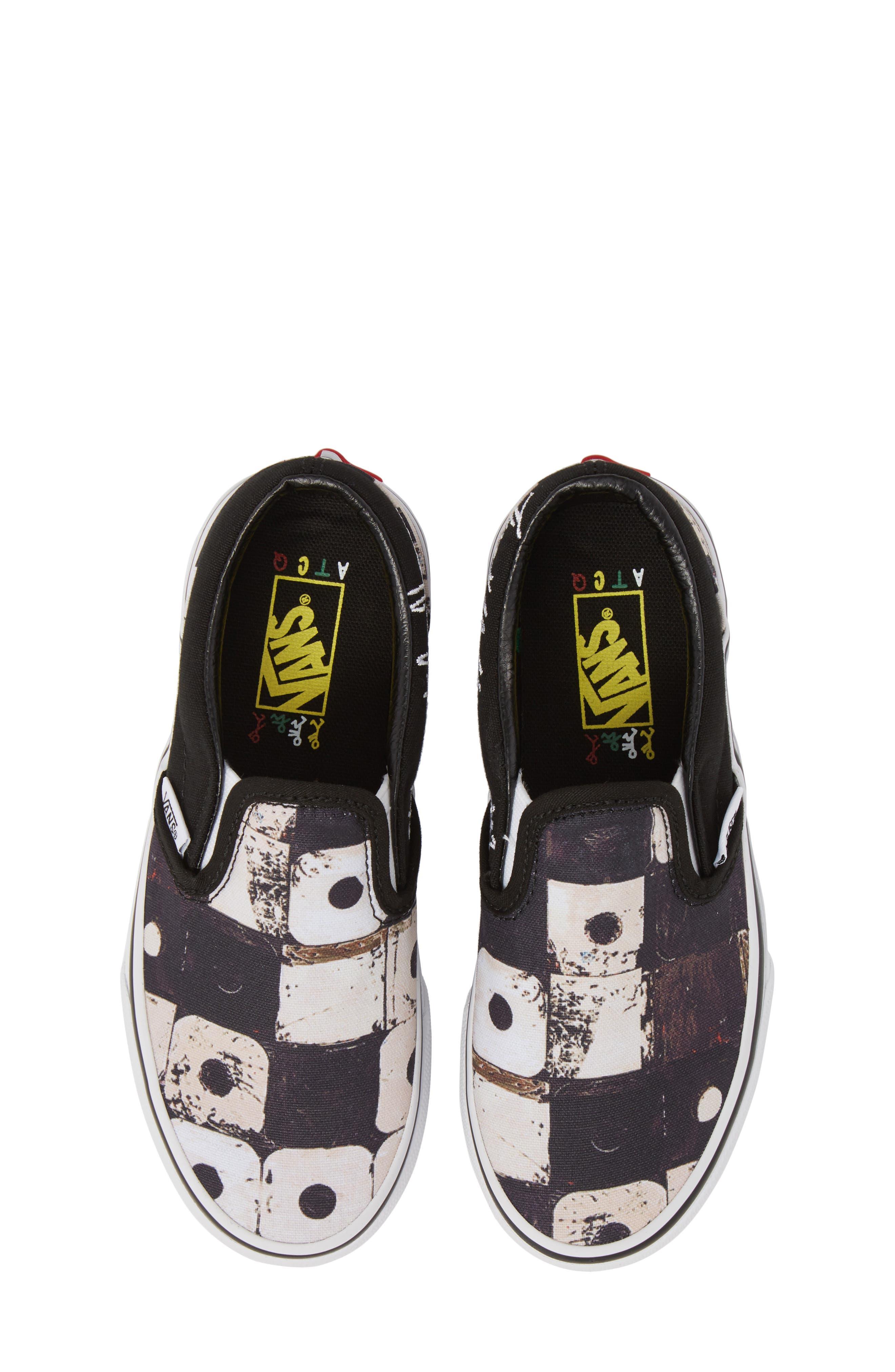 'Classic' Slip-On Sneaker,                             Main thumbnail 1, color,                             Black