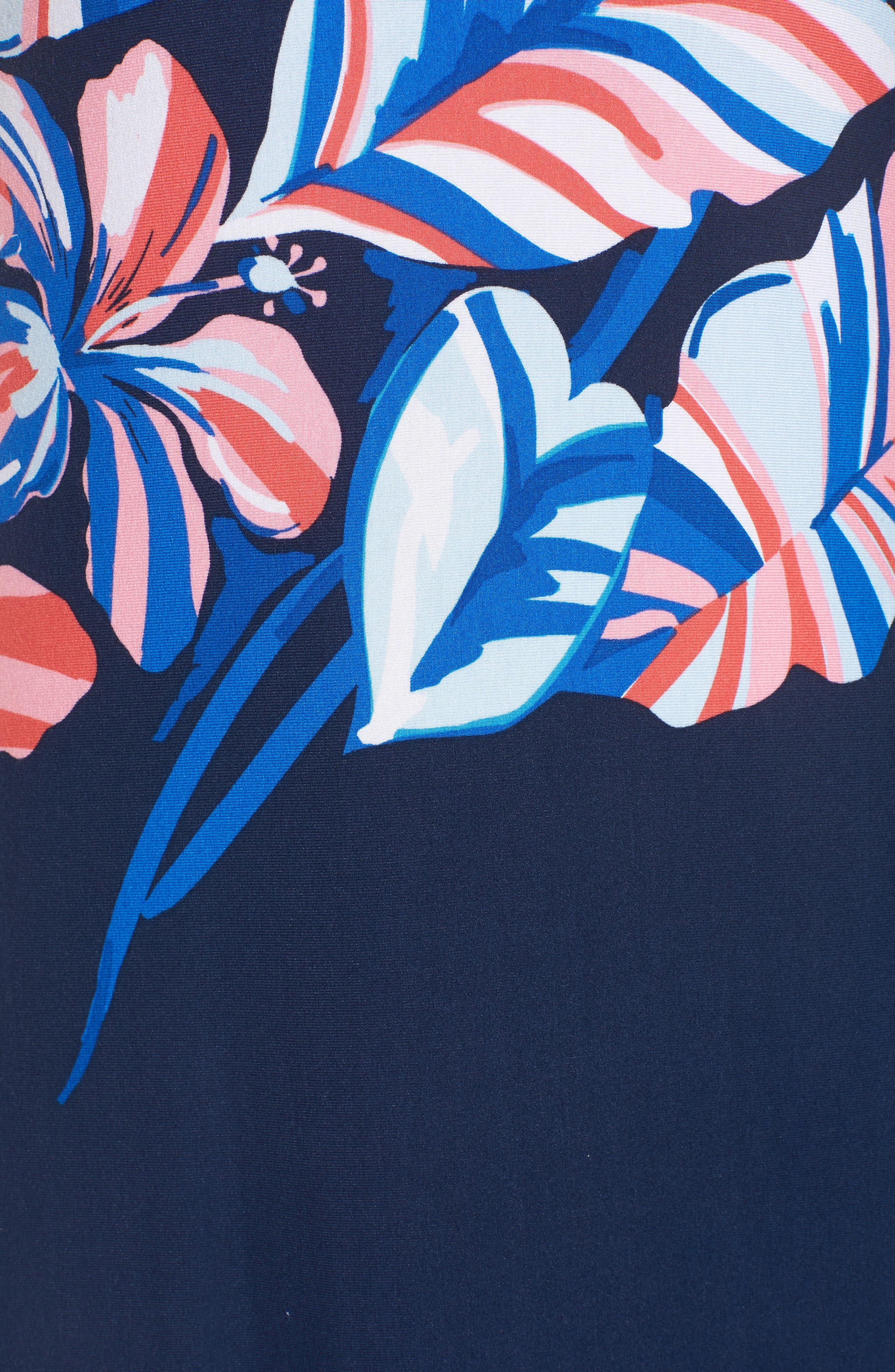 Le Tigre Floral Maxi Dress,                             Alternate thumbnail 6, color,                             Ocean Deep