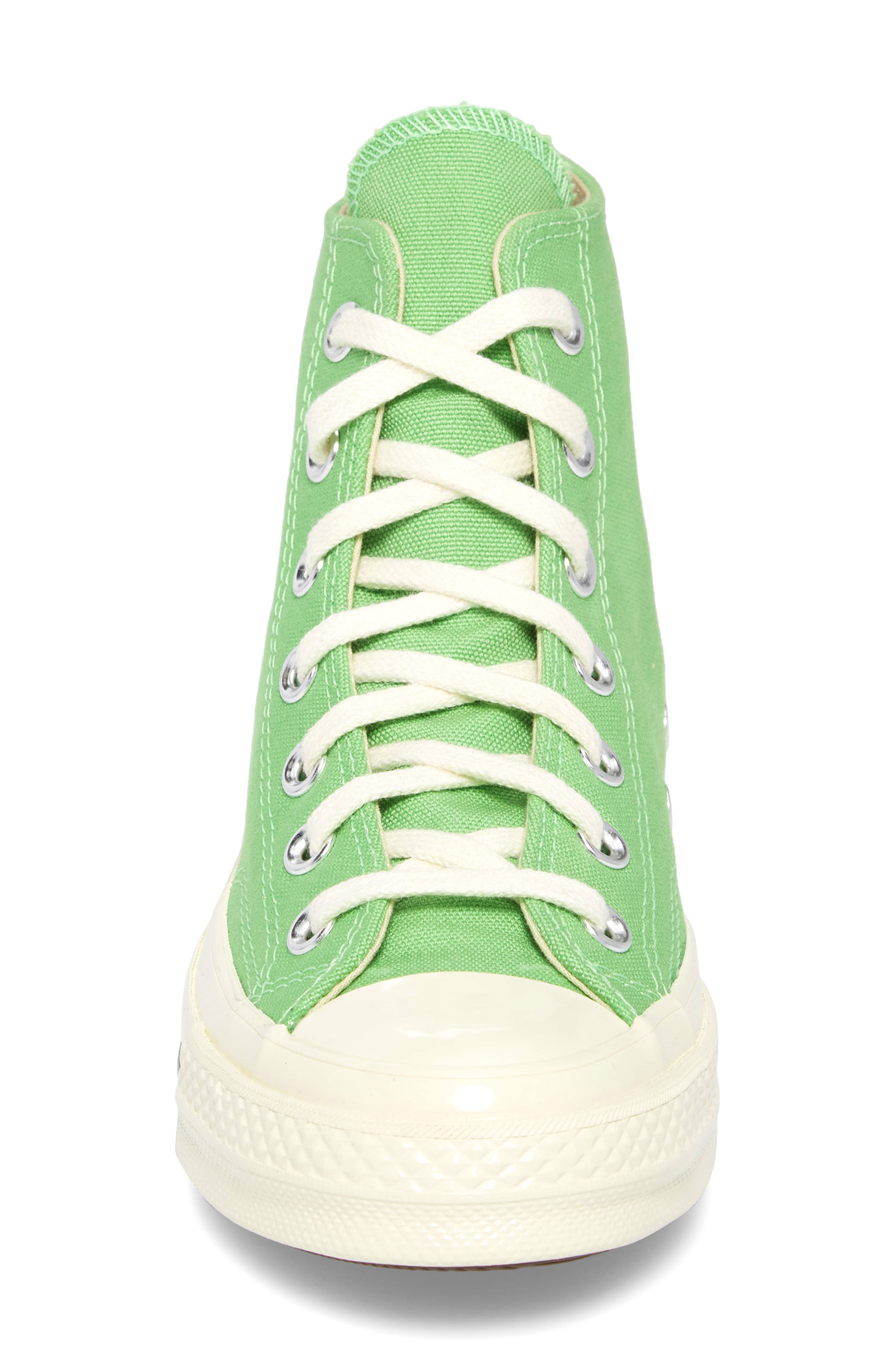 Chuck Taylor<sup>®</sup> All Star<sup>®</sup> 70 Brights High Top Sneaker,                             Alternate thumbnail 4, color,                             Illusion Green