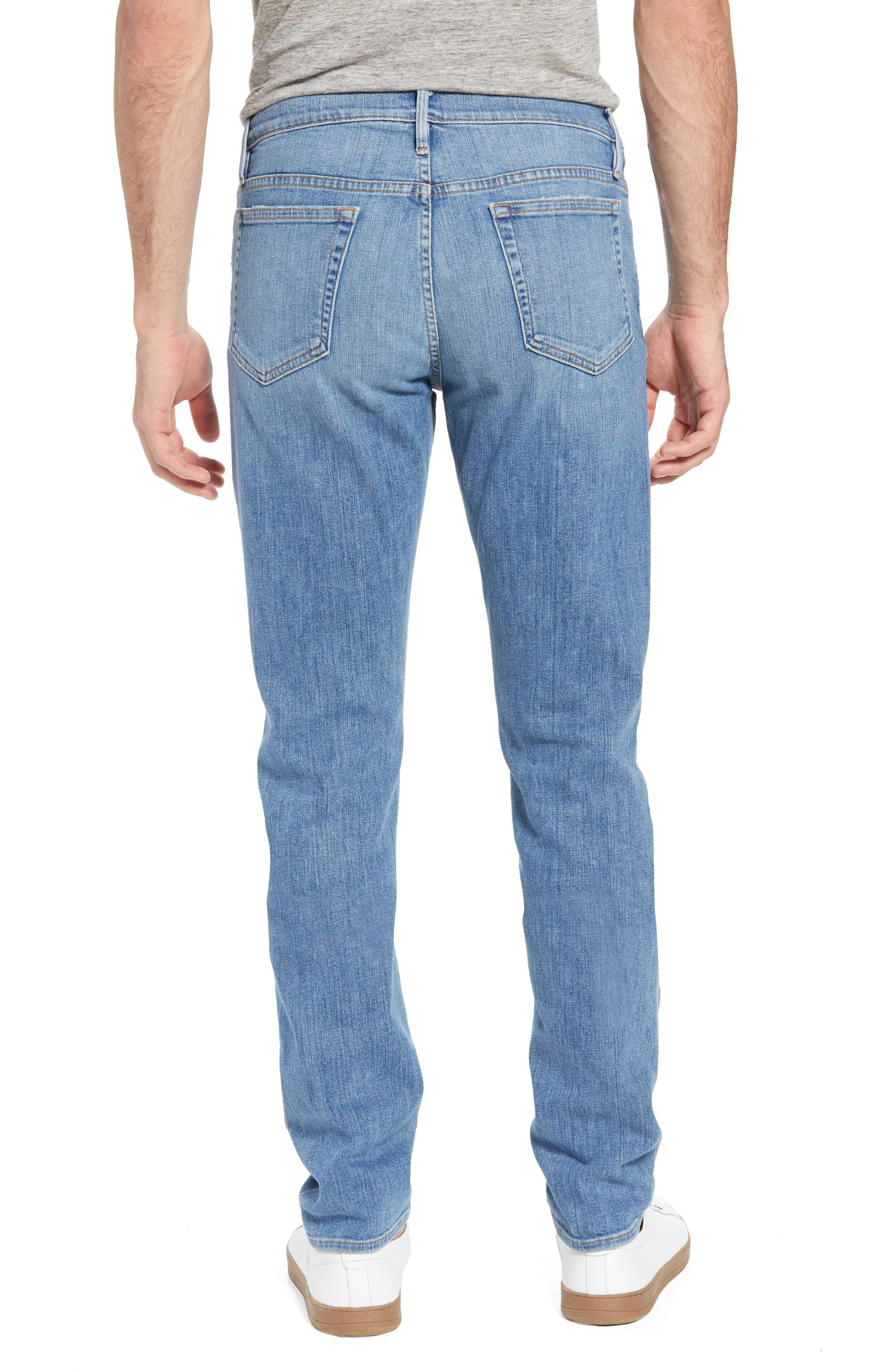 L'Homme Slim Straight Fit Jeans,                             Alternate thumbnail 2, color,                             Russel Cave