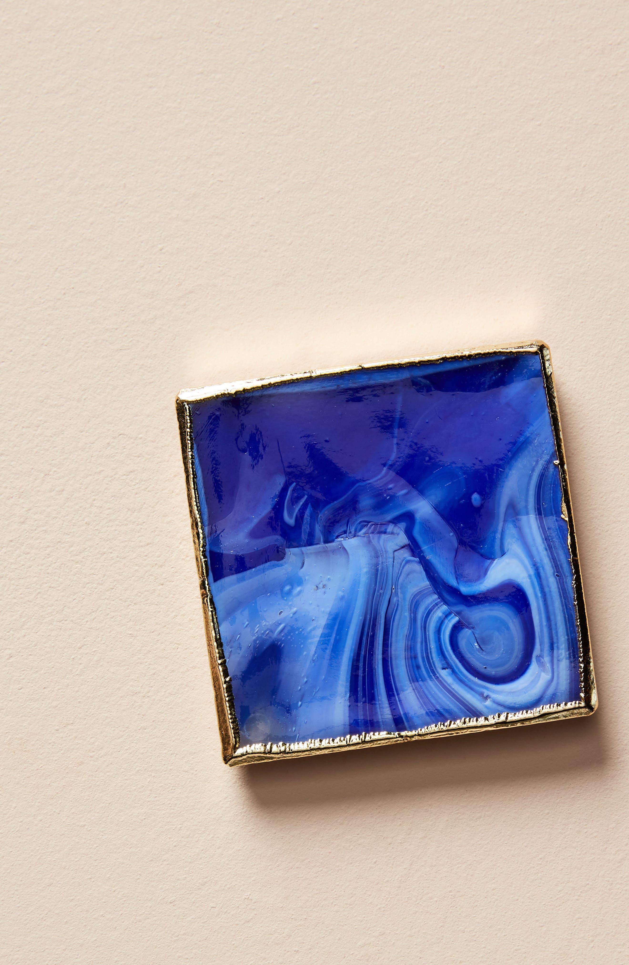 Swirled Coaster,                             Main thumbnail 1, color,                             Blue