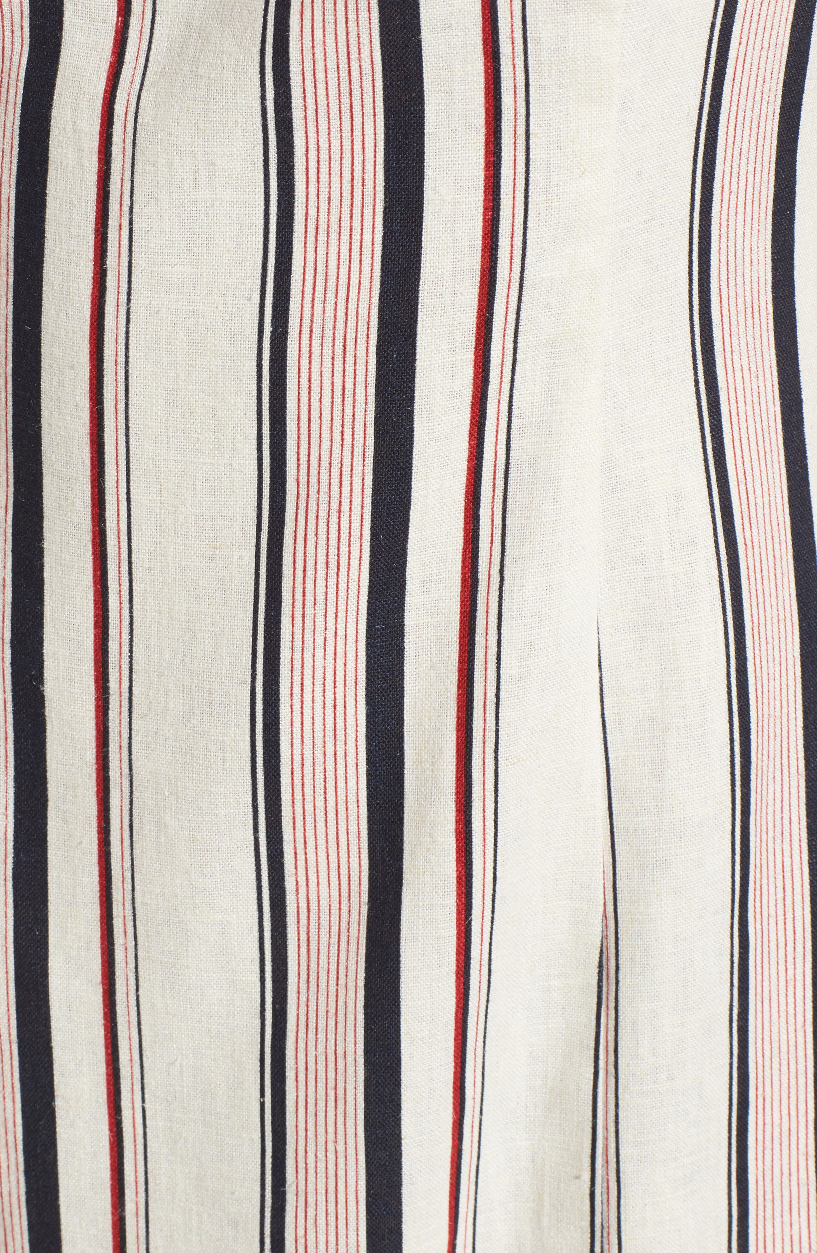 Striped Shift Dress,                             Alternate thumbnail 3, color,                             Navy Red Stripe