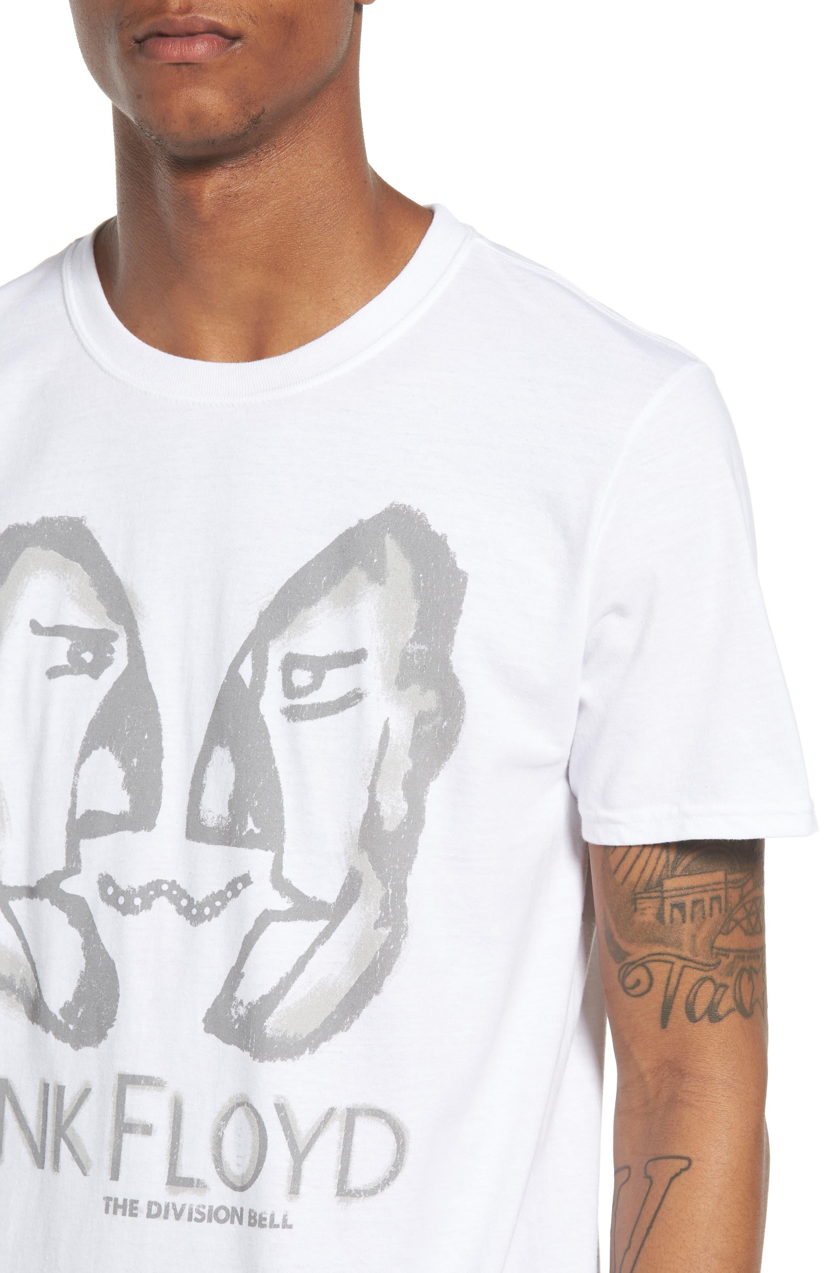 Pink Floyd T-Shirt,                             Alternate thumbnail 4, color,                             White Pink Floyd